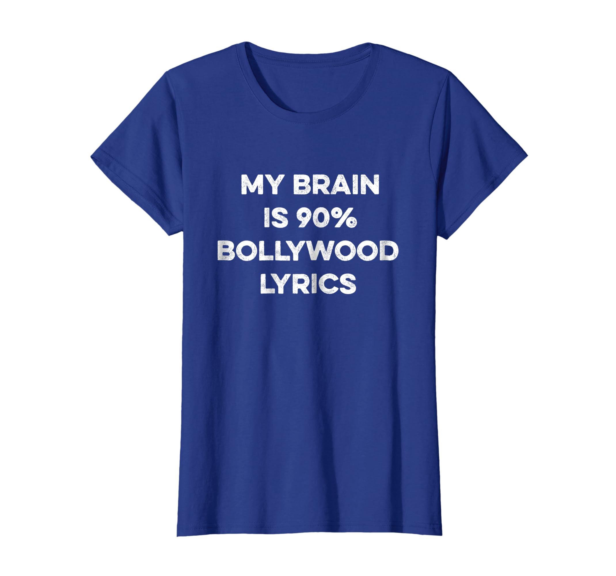 a03828d8 Amazon.com: Funny Bollywood Shirt Song Lyrics Dancing Indian Gift Tshirt:  Clothing
