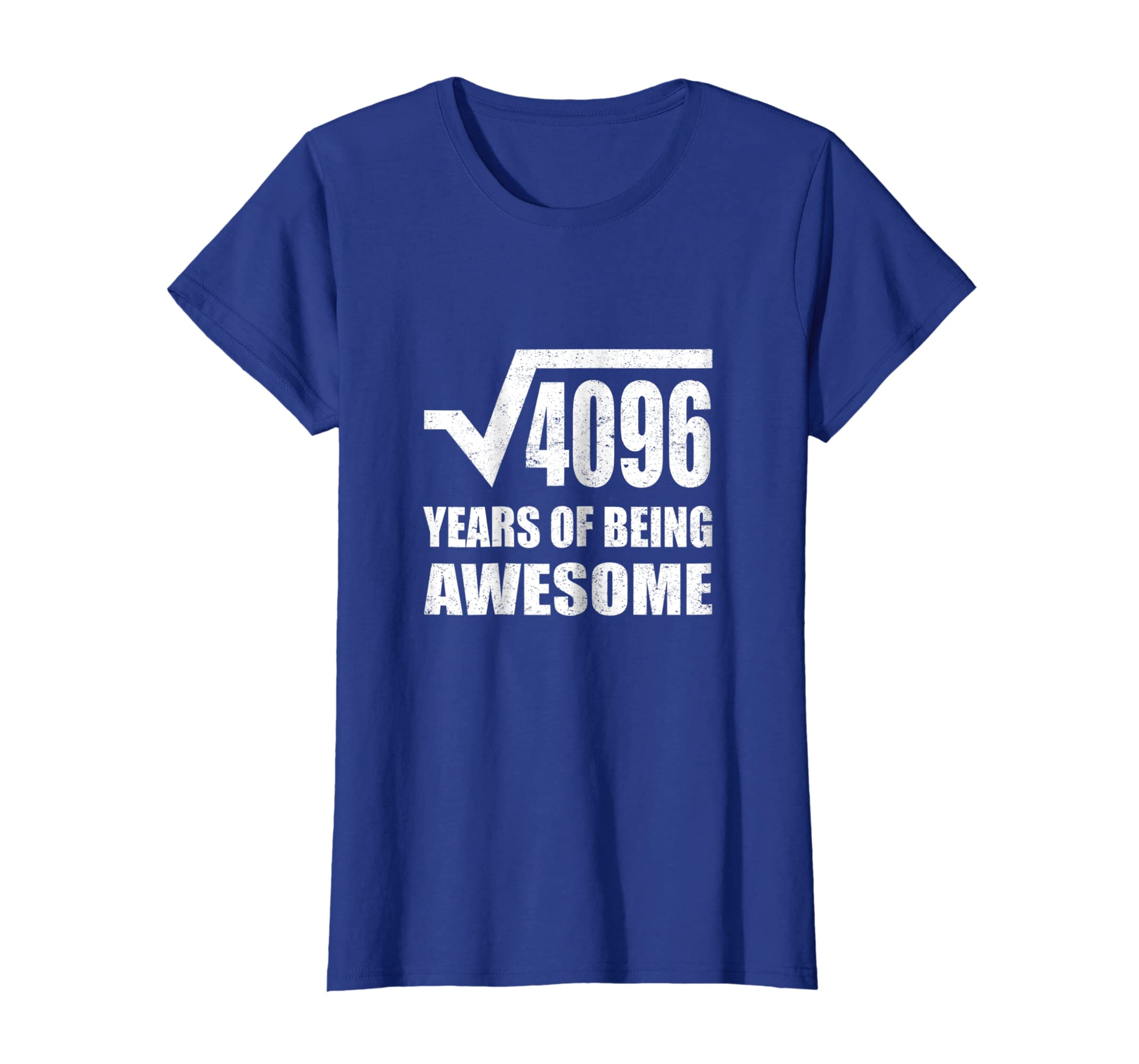 Amazon Square Root Of 4096 Fun 64 Birthday Gift Years Old TShirt Clothing