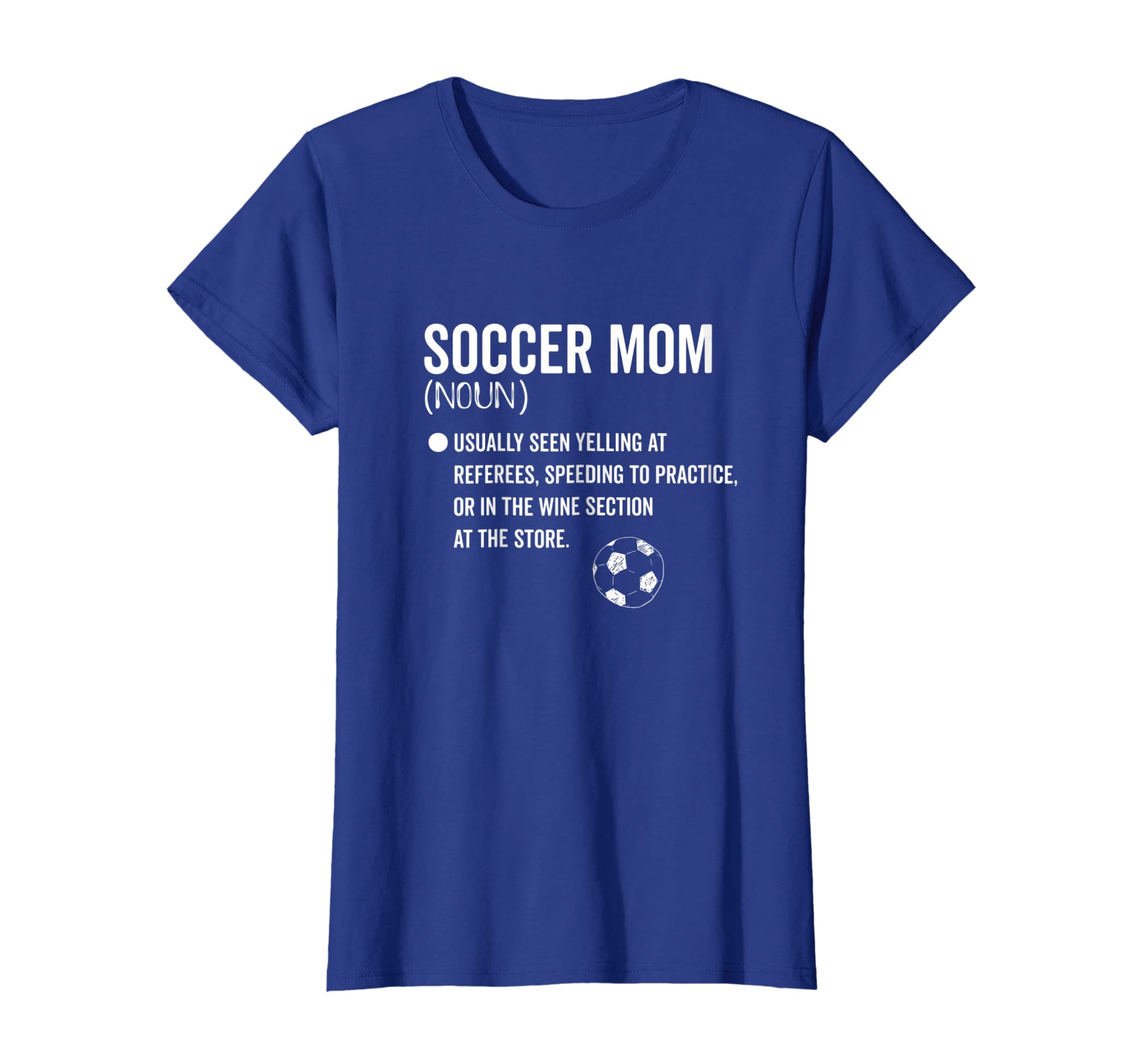 90852df4c00 Amazon.com  Soccer Mom Definition Shirt Yelling Cheering Wine Drinking T   Clothing