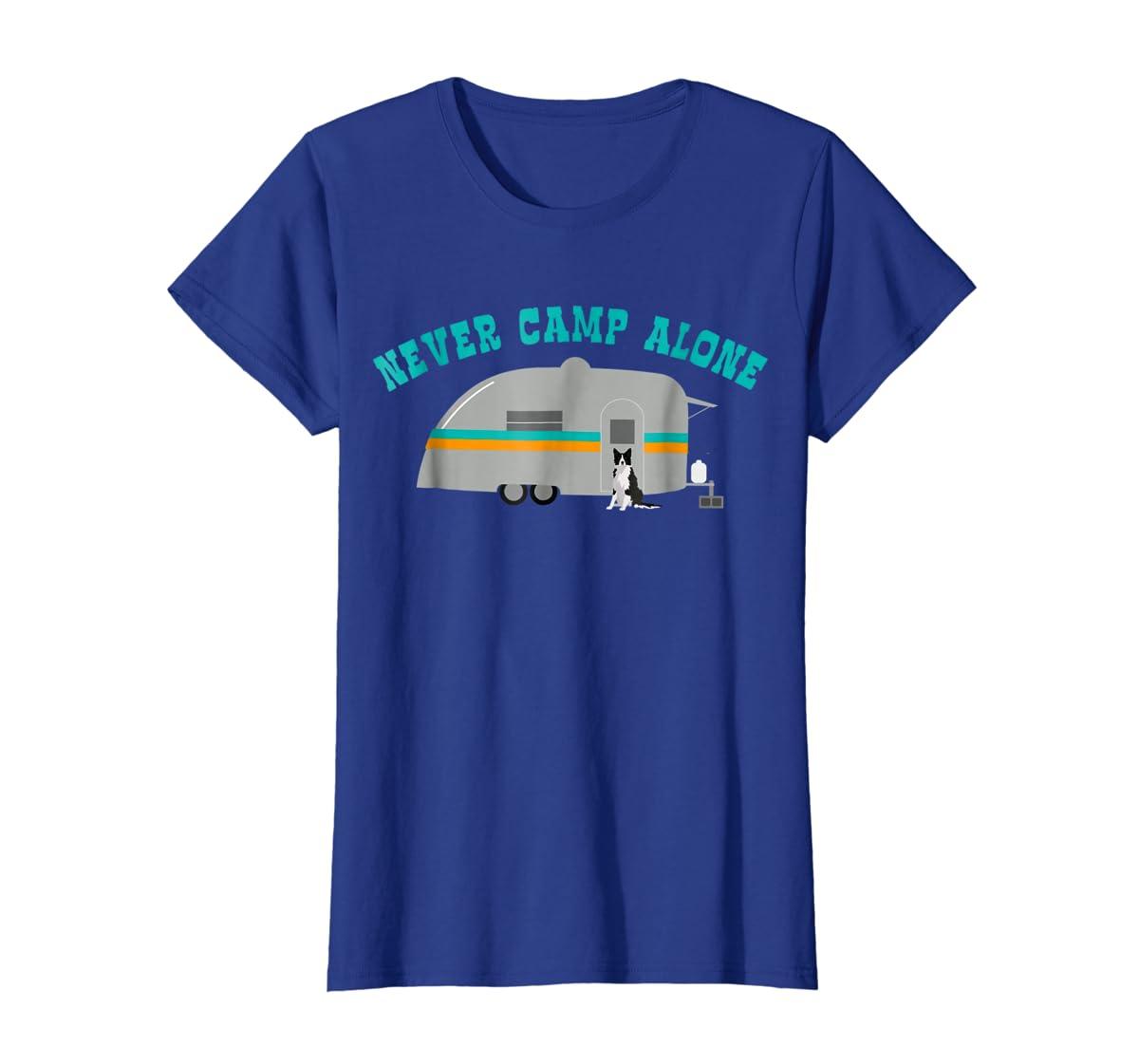 Border Collie Dog RV Shirt Funny Camping Travel Trailer-Women's T-Shirt-Royal