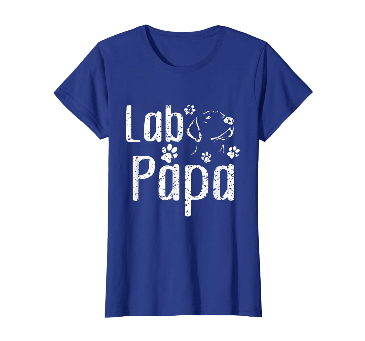 Lab Papa Labrador Retriever Vintage Tee Cute Lover Dog Dad T-Shirt-Women's T-Shirt-Royal