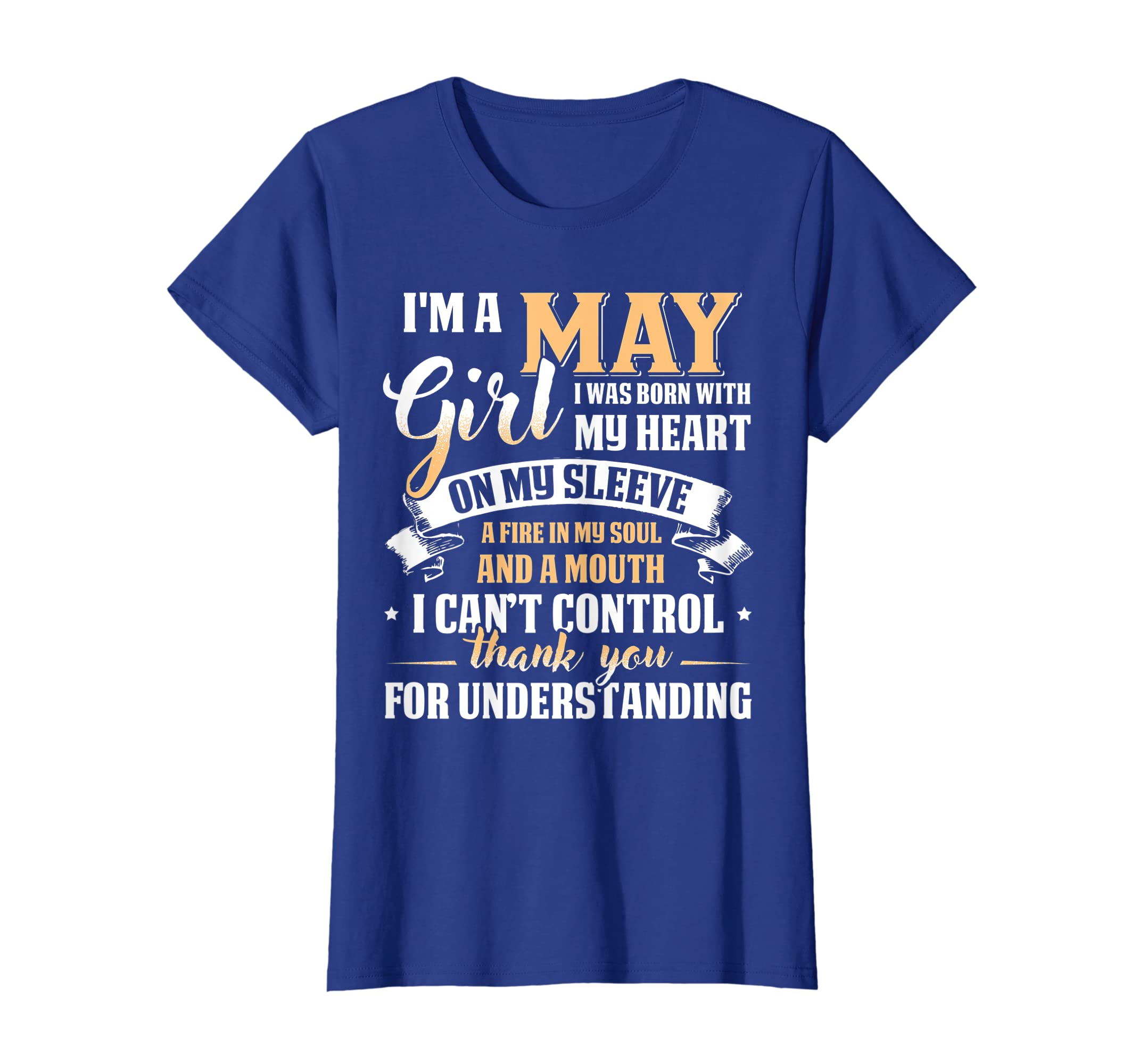 038c1f223 Amazon.com: I'm A May Girl T-Shirt Special Gift For Birthday Shirt: Clothing