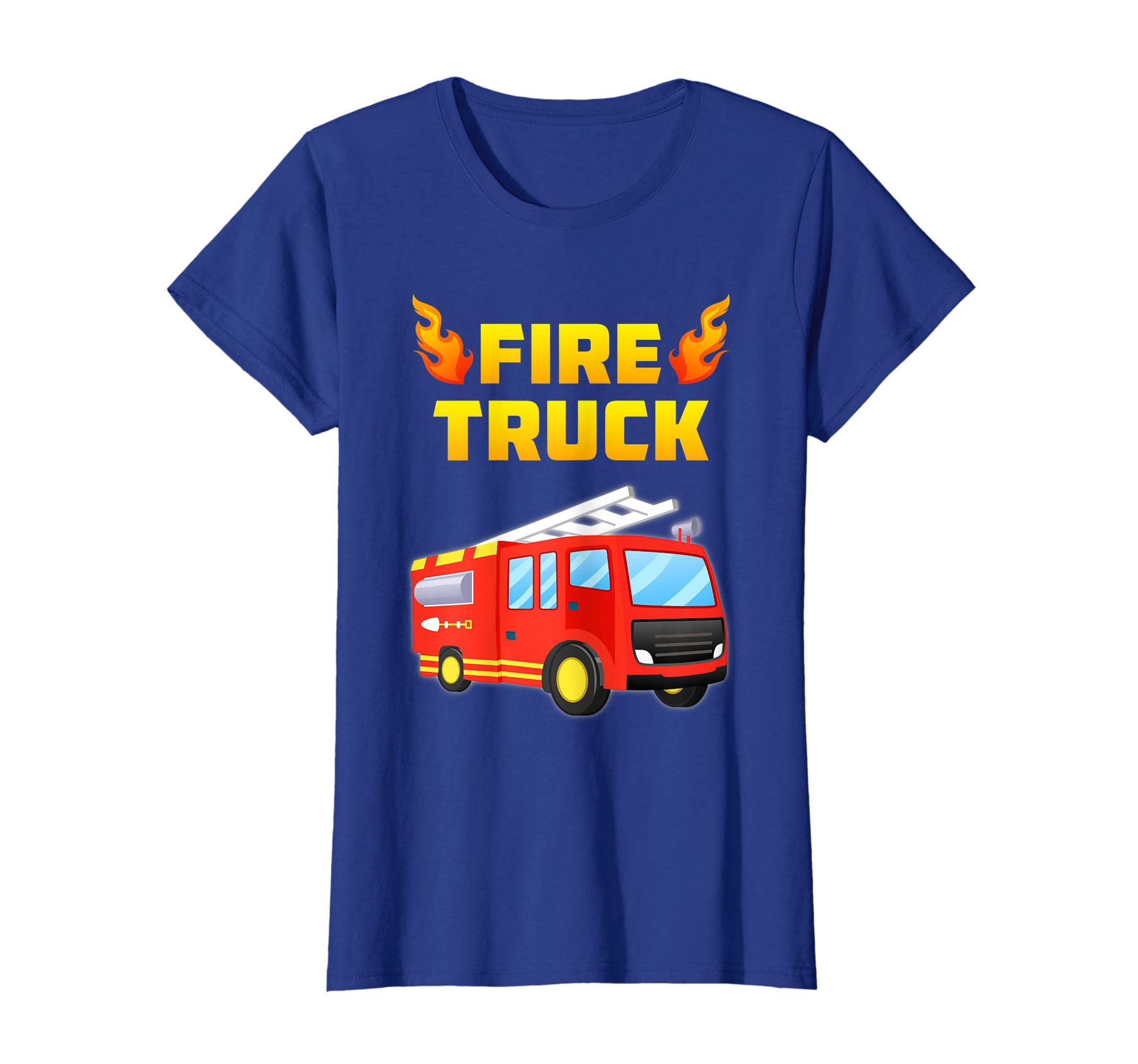 3de452020 Amazon.com: Fireman Fire Truck Fire Fighter T-Shirt Toddler Adults Kids:  Clothing
