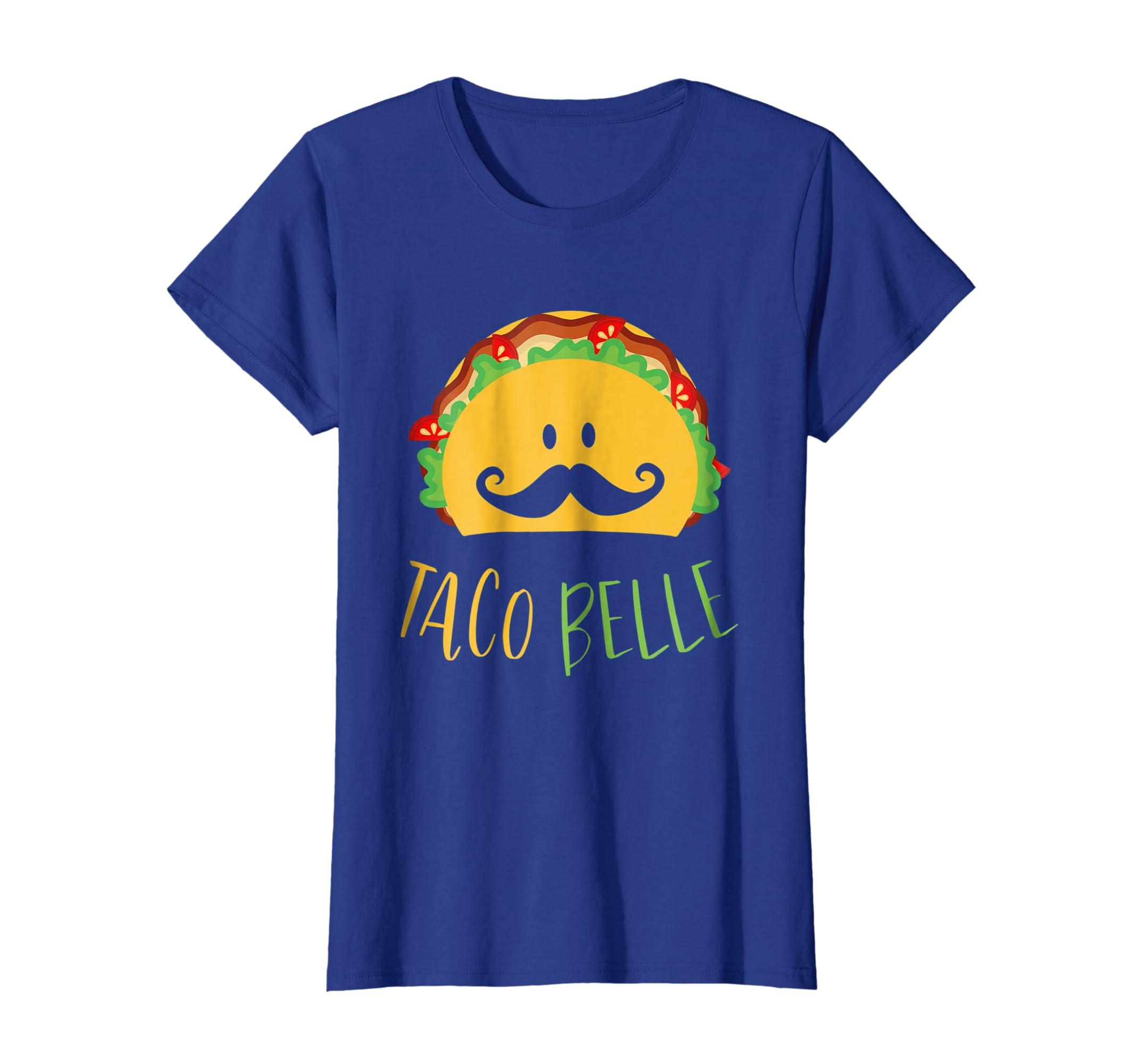 68319a47 Amazon.com: Funny Taco Belle T-Shirt - Funny Taco Face Shirt: Clothing