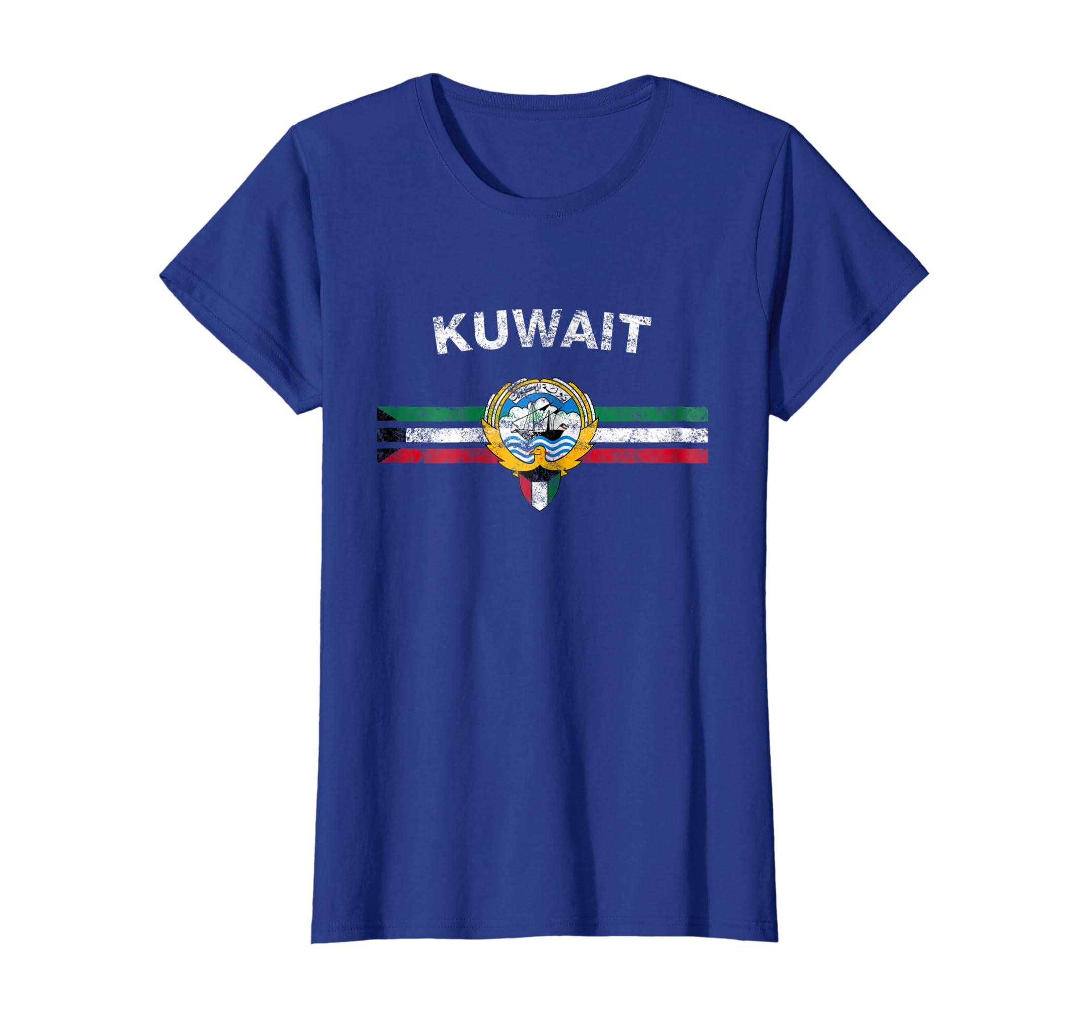 76ba8e2e2ff3 Amazon.com  Kuwaiti Flag Shirt - Kuwaiti Emblem   Kuwait Flag Shirt   Clothing