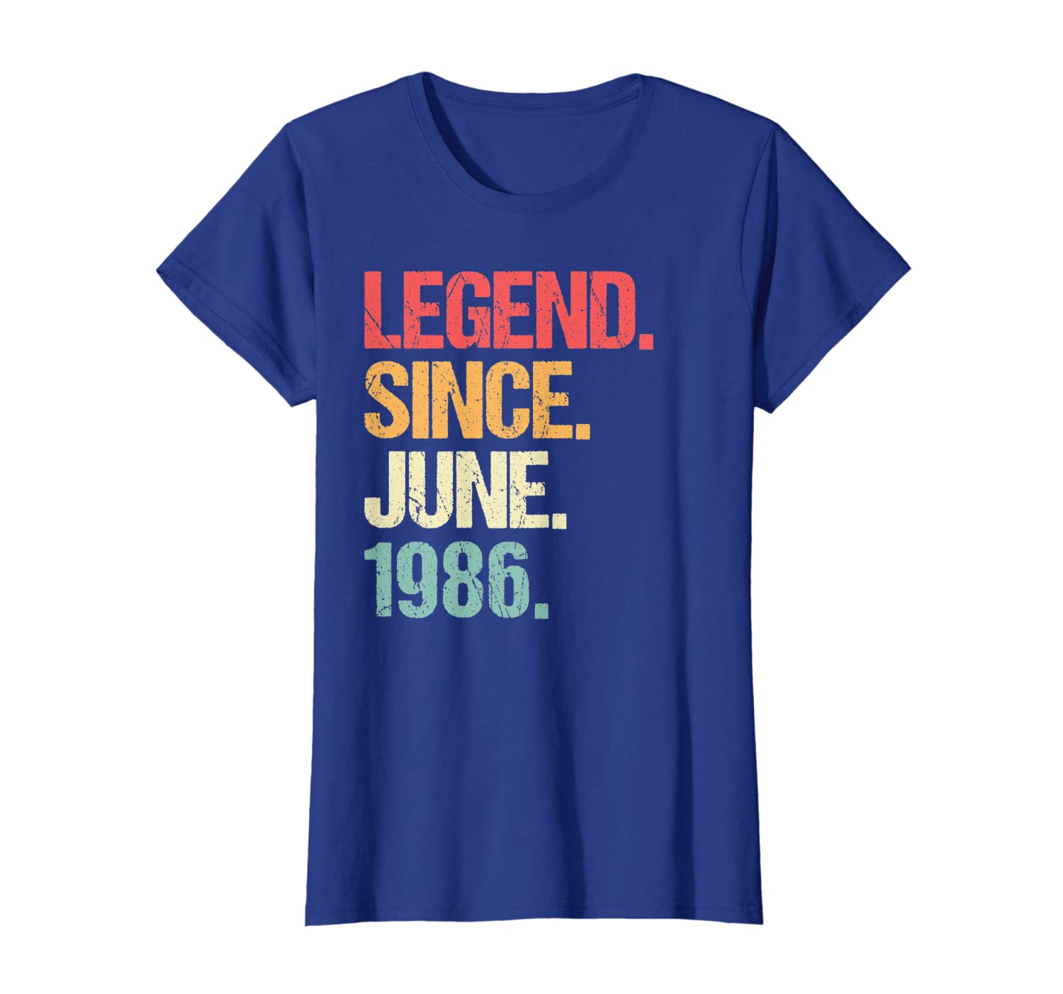 Legend Since June 1986 T Shirt Vintage 33rd Birthday Gifts-Loveshirt