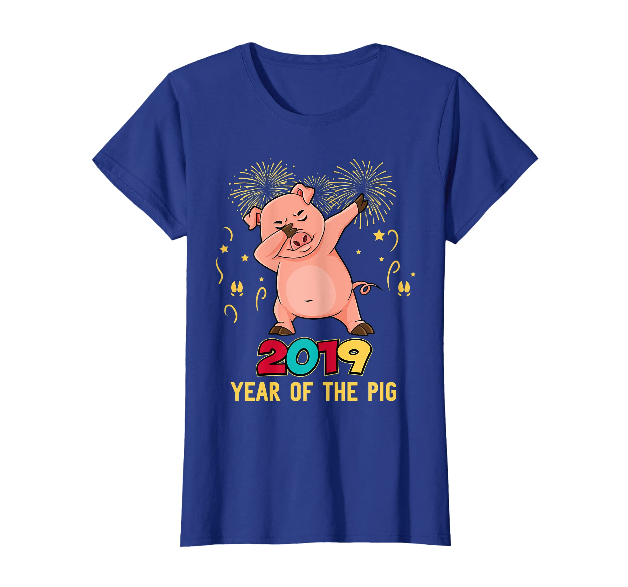 b411f0a0 Amazon.com: Dabbing Year Of The Pig Happy New Year 2019 Gift T Shirt:  Clothing