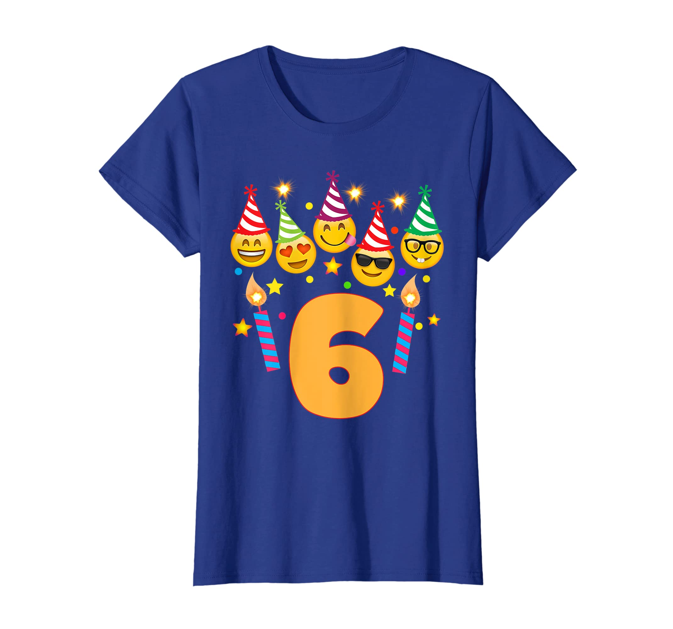 Amazon Emoji Birthday Shirt For 6 Six Year Old Girl Boy Toddler Clothing