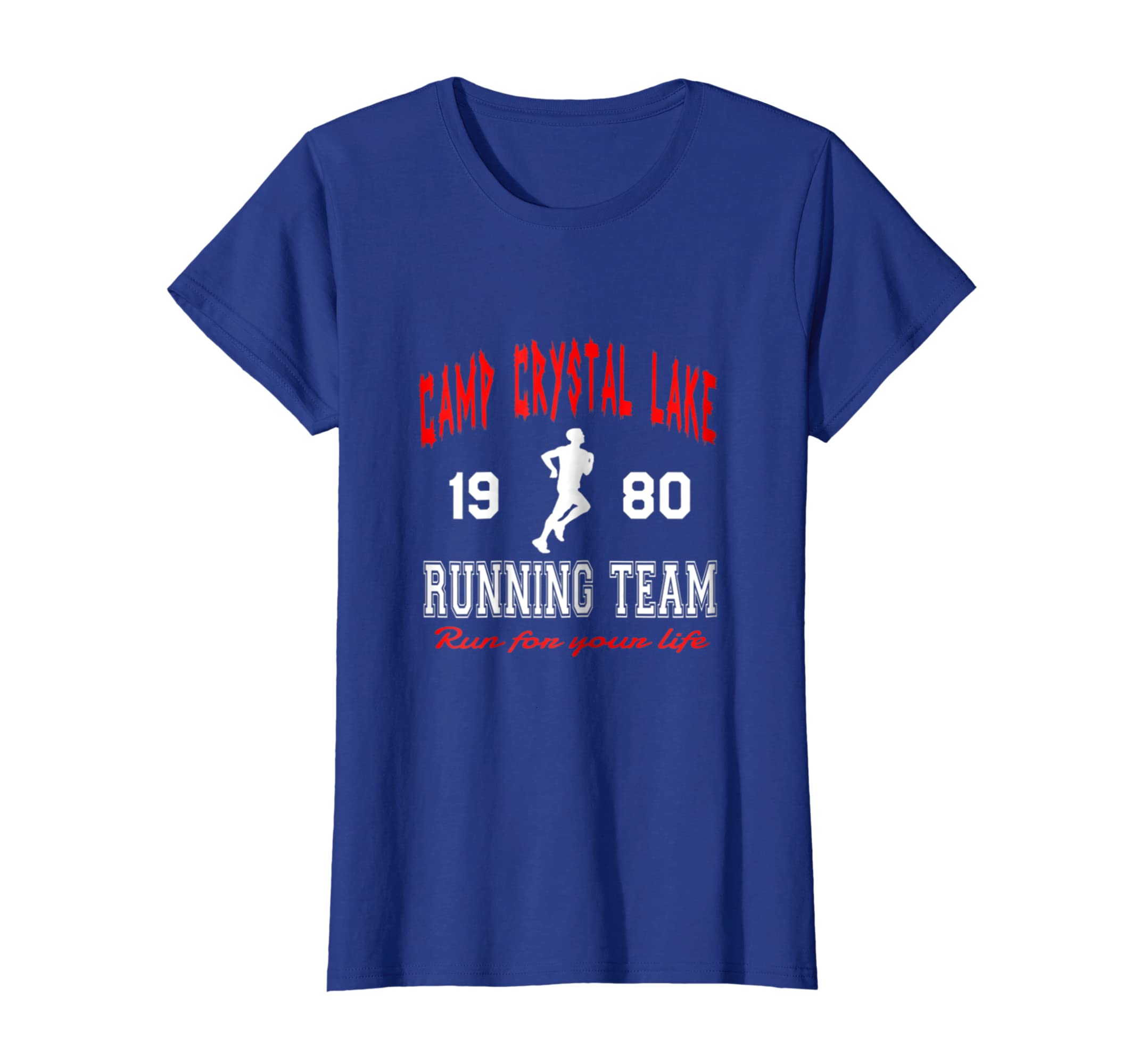 a5fb8bea8 Amazon.com: Camp Crystal Lake 1980 Running Team Run For Your Life Tshirt:  Clothing