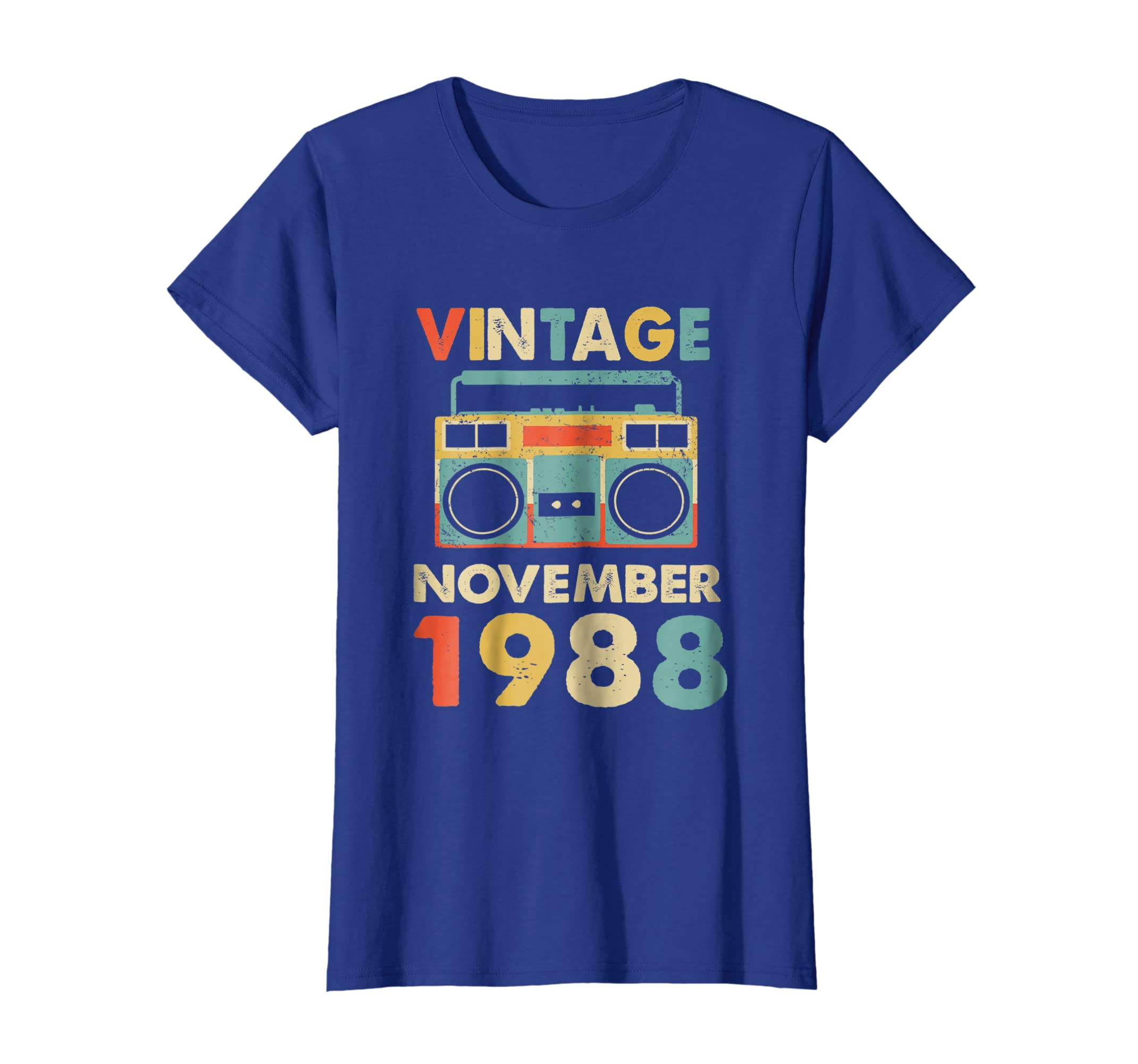 b41dbcf91e5 Amazon.com  Vintage November 1988 Tshirt Retro 30th Birthday Gifts  Clothing