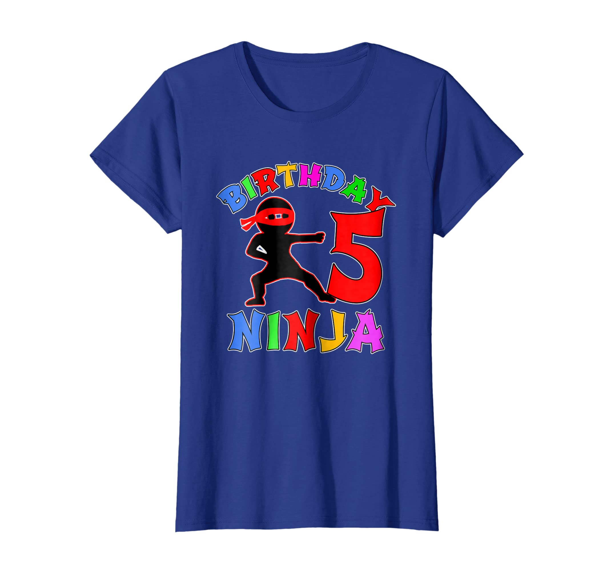Amazon.com: FIFTH BIRTHDAY NINJA T-shirt Age 5: Clothing