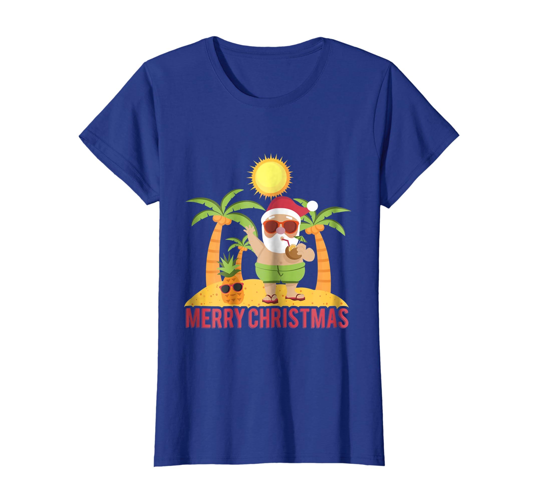 6e2f8fc7bd8d Amazon.com  Funny Santa Claus Summer Shirt Christmas Outfit  Clothing