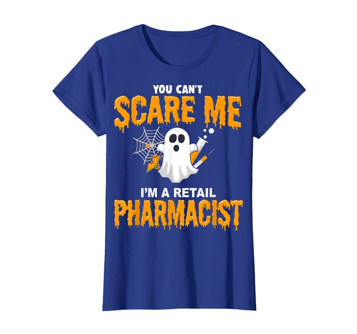 Halloween Costume Shirt I'm A Retail Pharmacist  T-Shirt-Women's T-Shirt-Royal