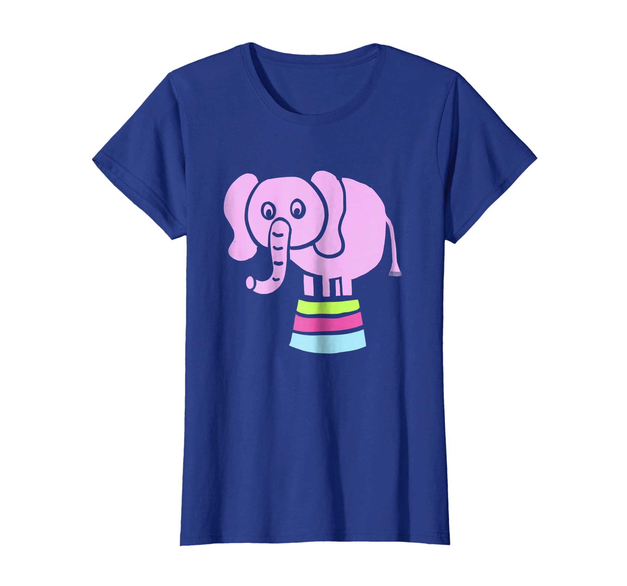 741904c2b6dcd Amazon.com  Circus Elephant T-shirt - by Animal Face Shirt  Clothing