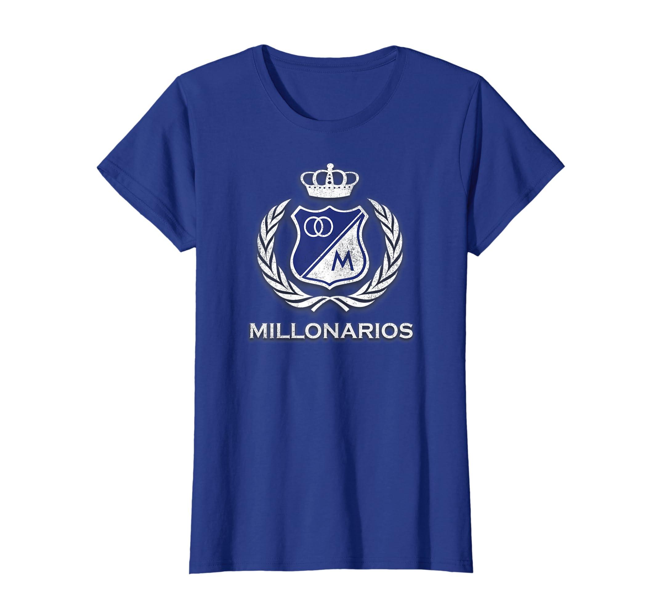 Amazon.com: Bogota T Shirt - Millonarios Futbol Club Camiseta Camisa Tee: Clothing