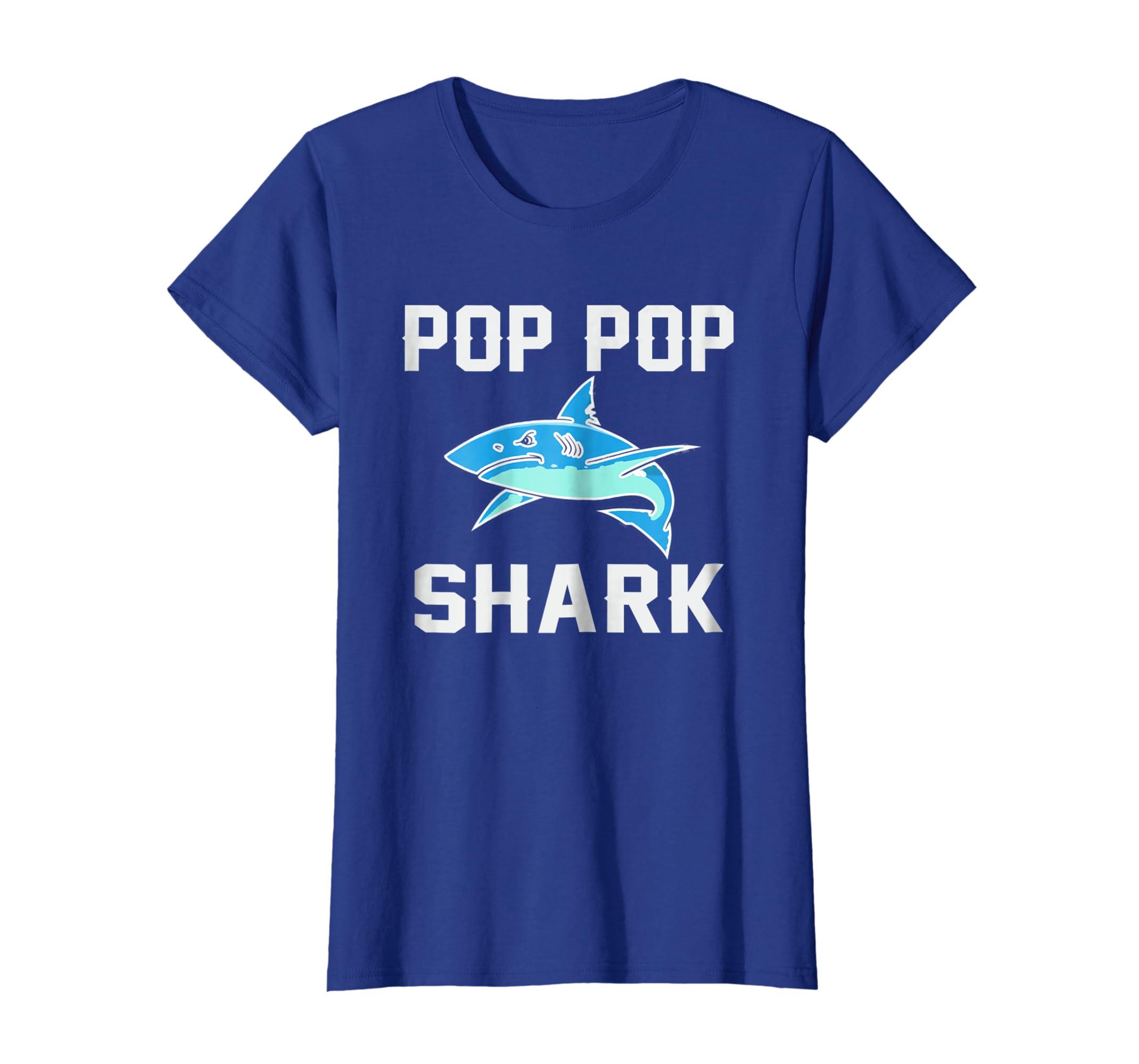 9337200d Amazon.com: Pop Pop Shark T-Shirt For Men: Clothing