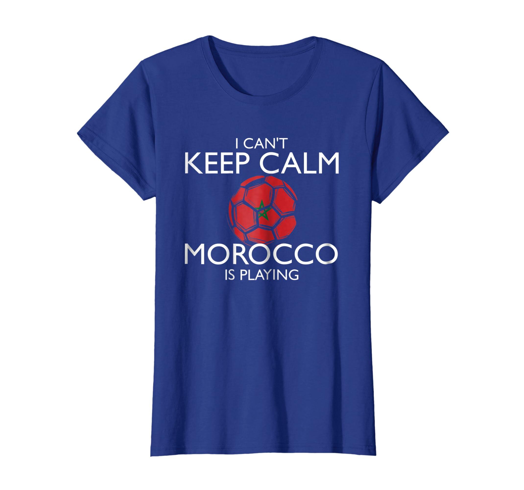 f5734d3b6c5 Amazon.com: Morocco Football Jersey 2018 Moroccan Soccer T-Shirt: Clothing
