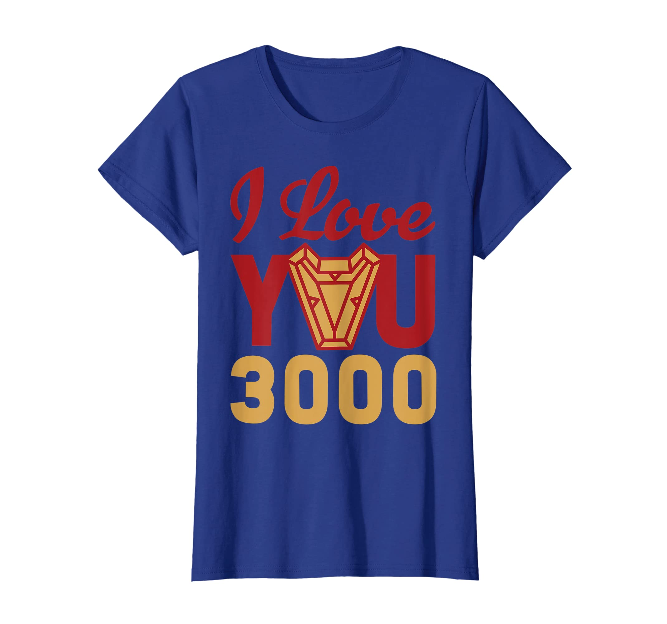 6f9b62a6 Amazon.com: Avengers Endgame Iron Man I Love You 3000 Red Yellow Logo  T-Shirt: Clothing