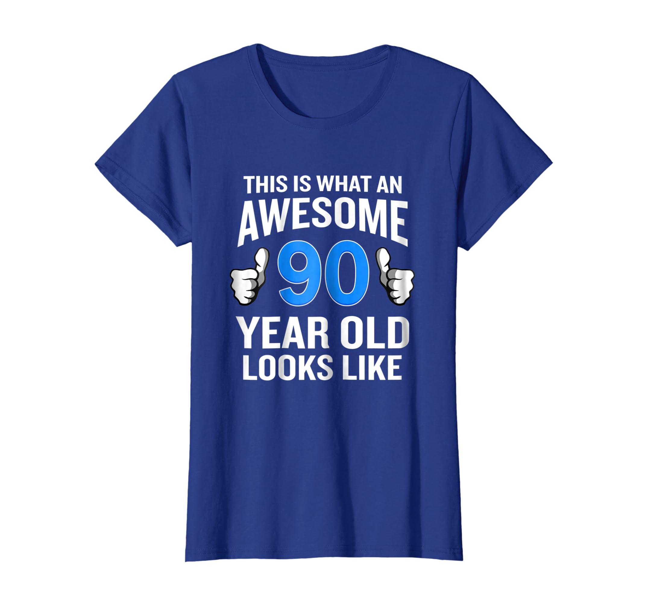 Amazon 90 Year Old Birthday T Shirt Funny Senior Man Or Woman Gift Clothing