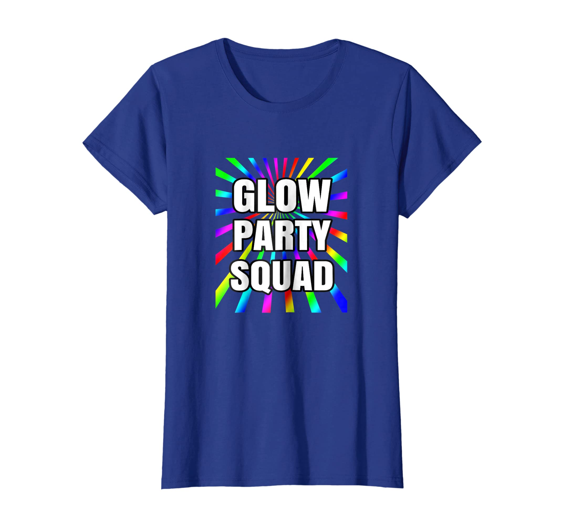 Amazon Glow Party Squad Neon Birthday Shirt Colorful Rays Clothing