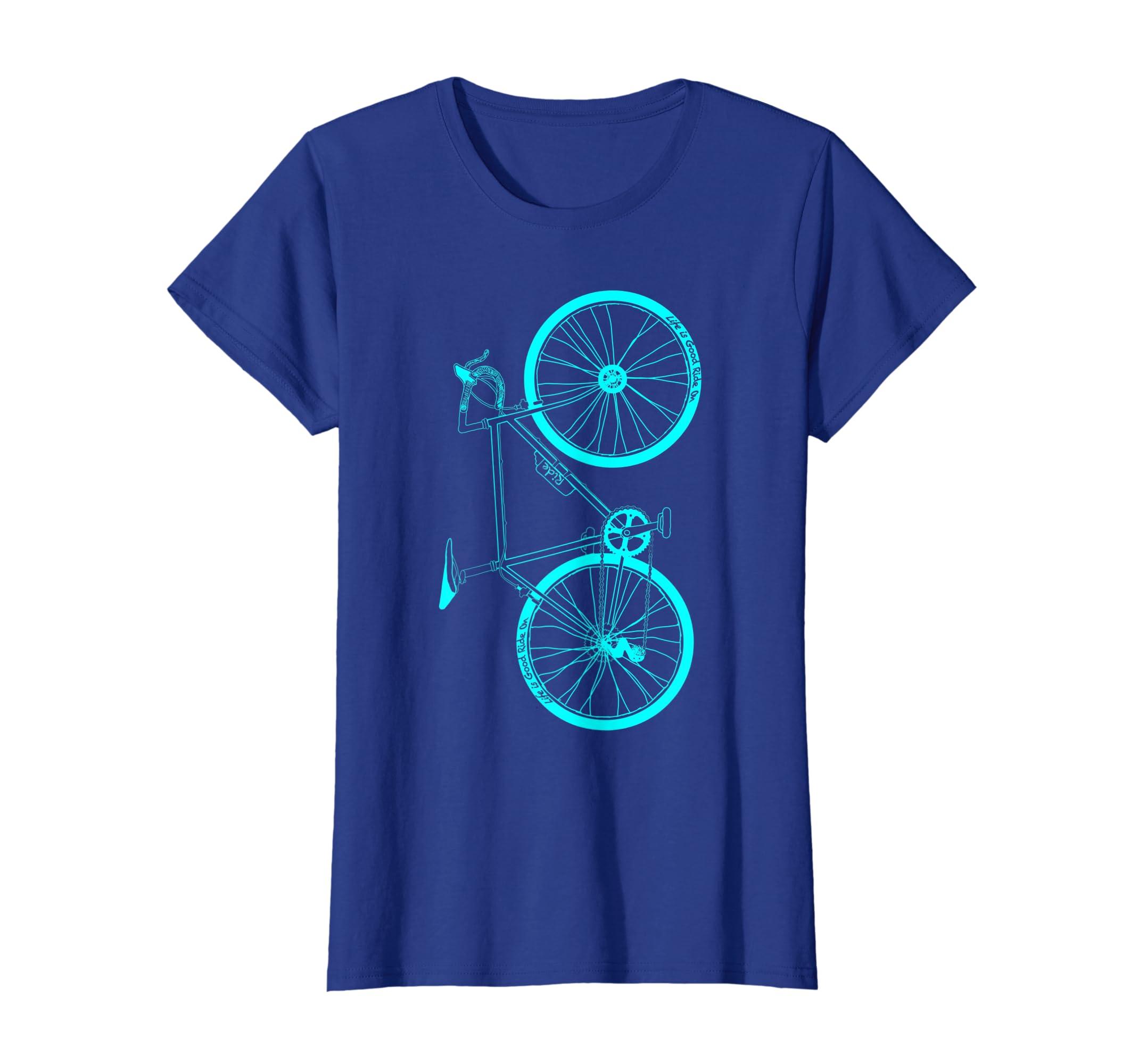 32921635280 Amazon.com  Life Is Good Ride On Bike Cycling   Triathlon T-shirt Gift   Clothing