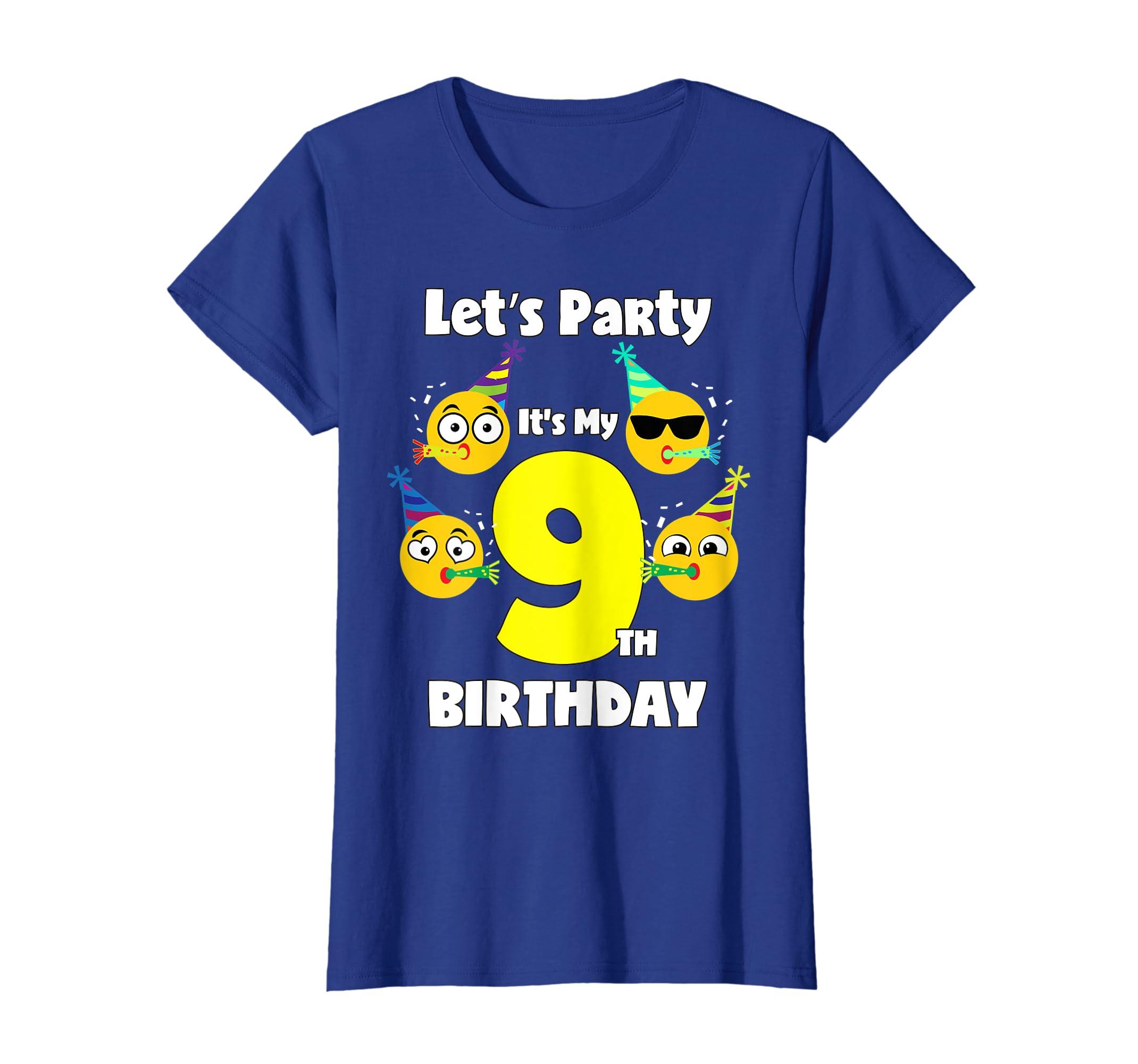 Amazon Emoji Birthday Shirt For 9 Year Old Girl Boy Toddler Cute Clothing