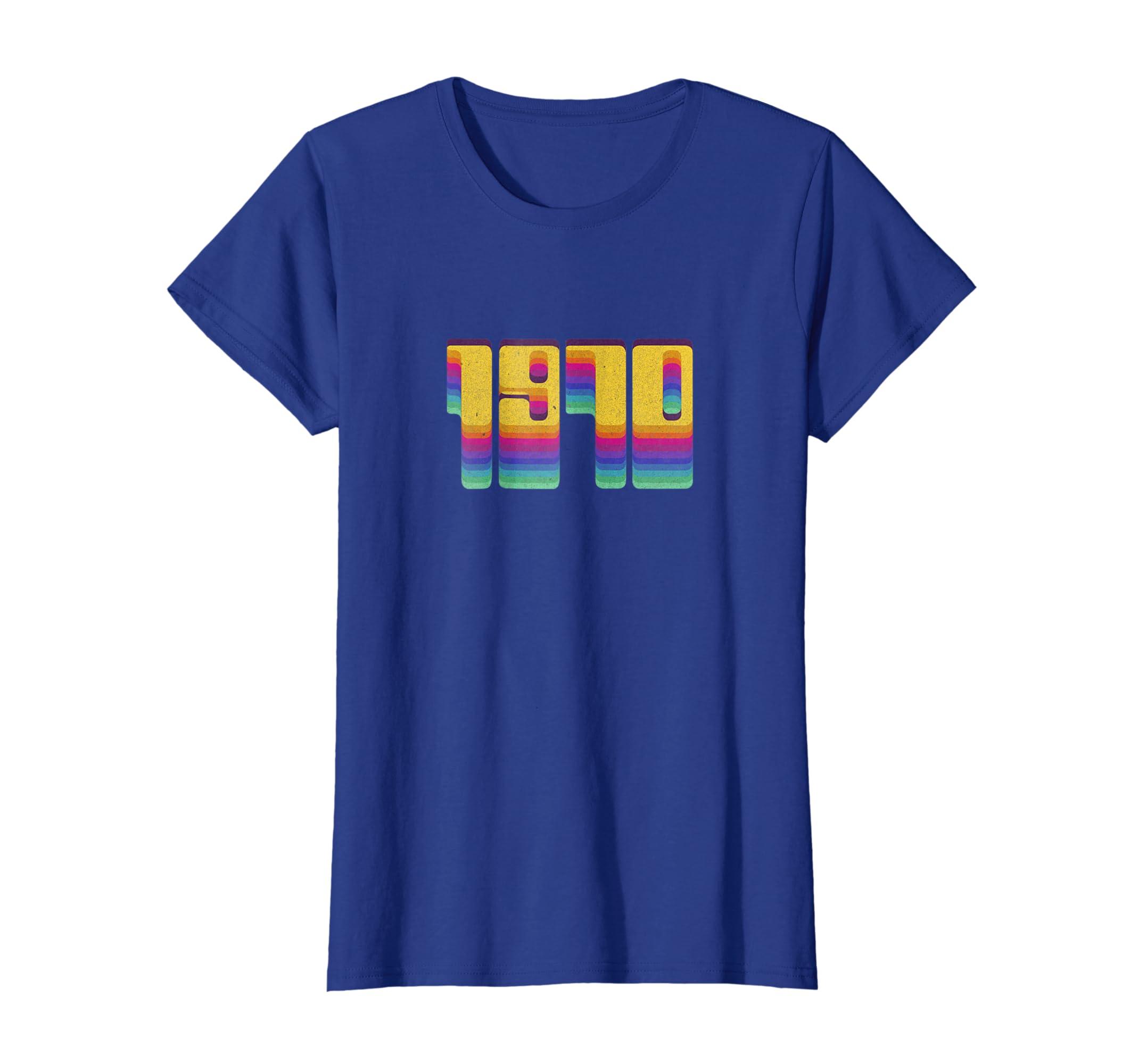 Amazon 1970 Slogan Seventies 70s T Shirt Cool Vintage Retro Style Clothing