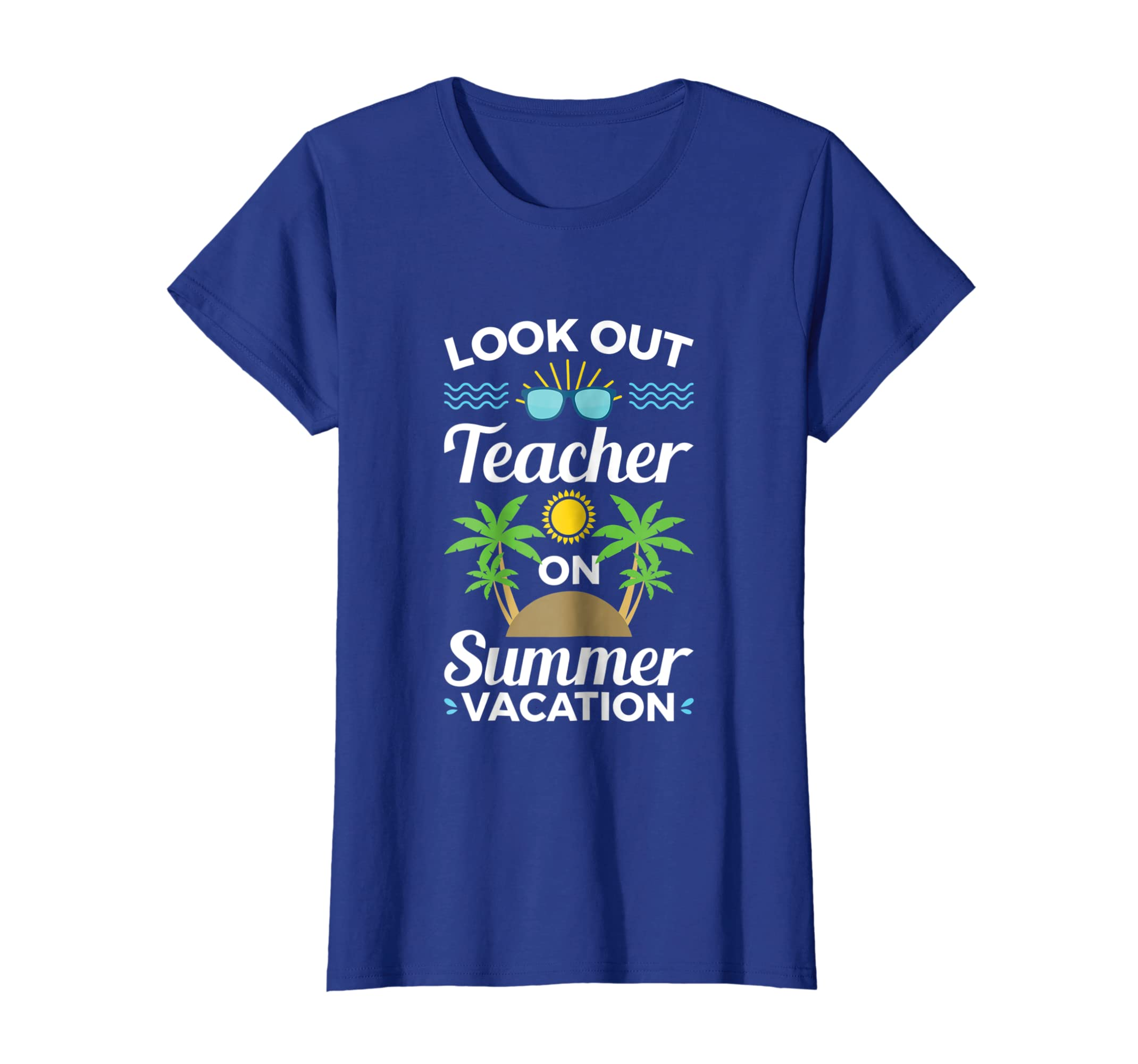 095520ee60d1 Amazon.com  Teacher Summer Vacation Gift Funny tshirt End of School Year   Clothing