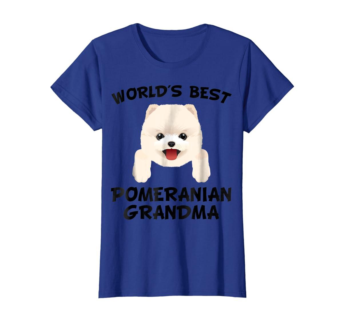 World's Best Pomeranian Grandma Dog Granddog T-Shirt-Women's T-Shirt-Royal