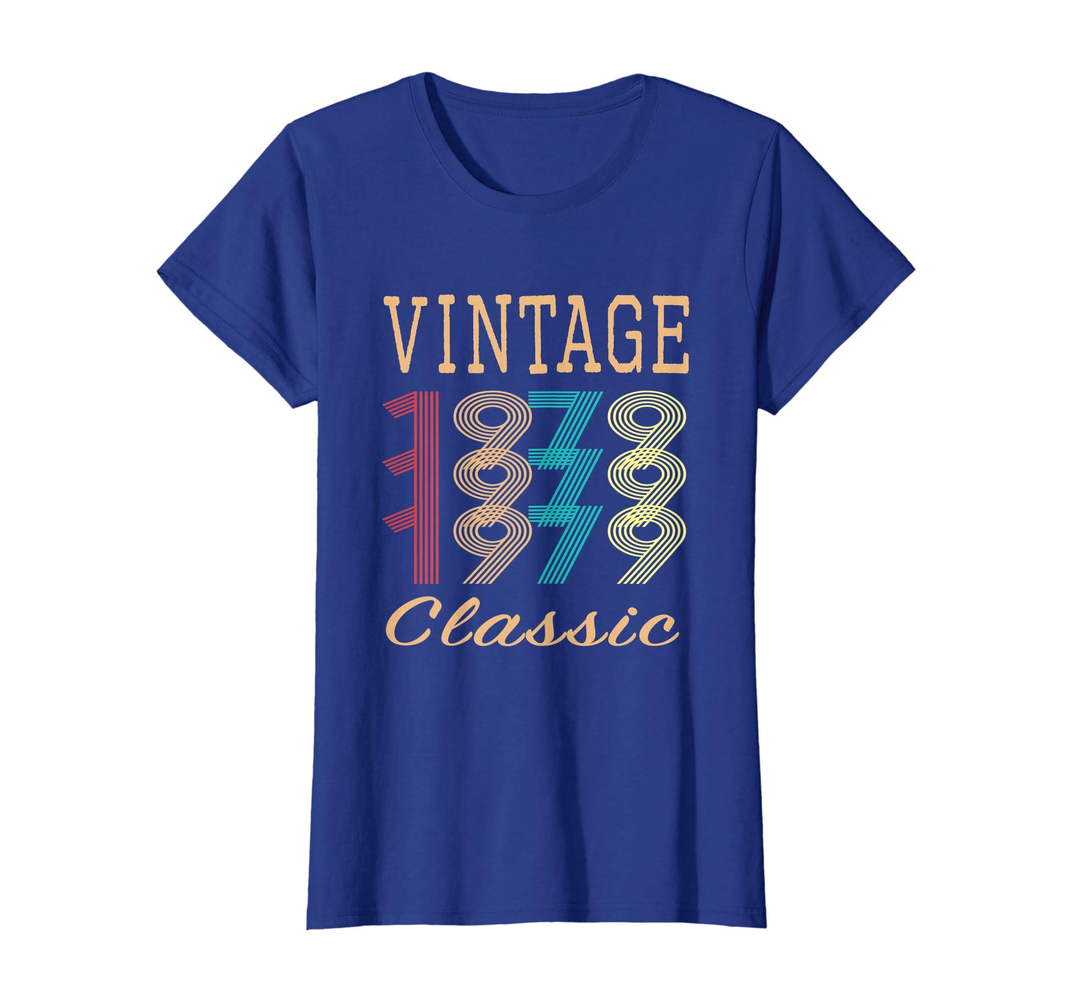 Amazon Retro Mens Womens Vintage 40th Birthday Gift T Shirt Clothing