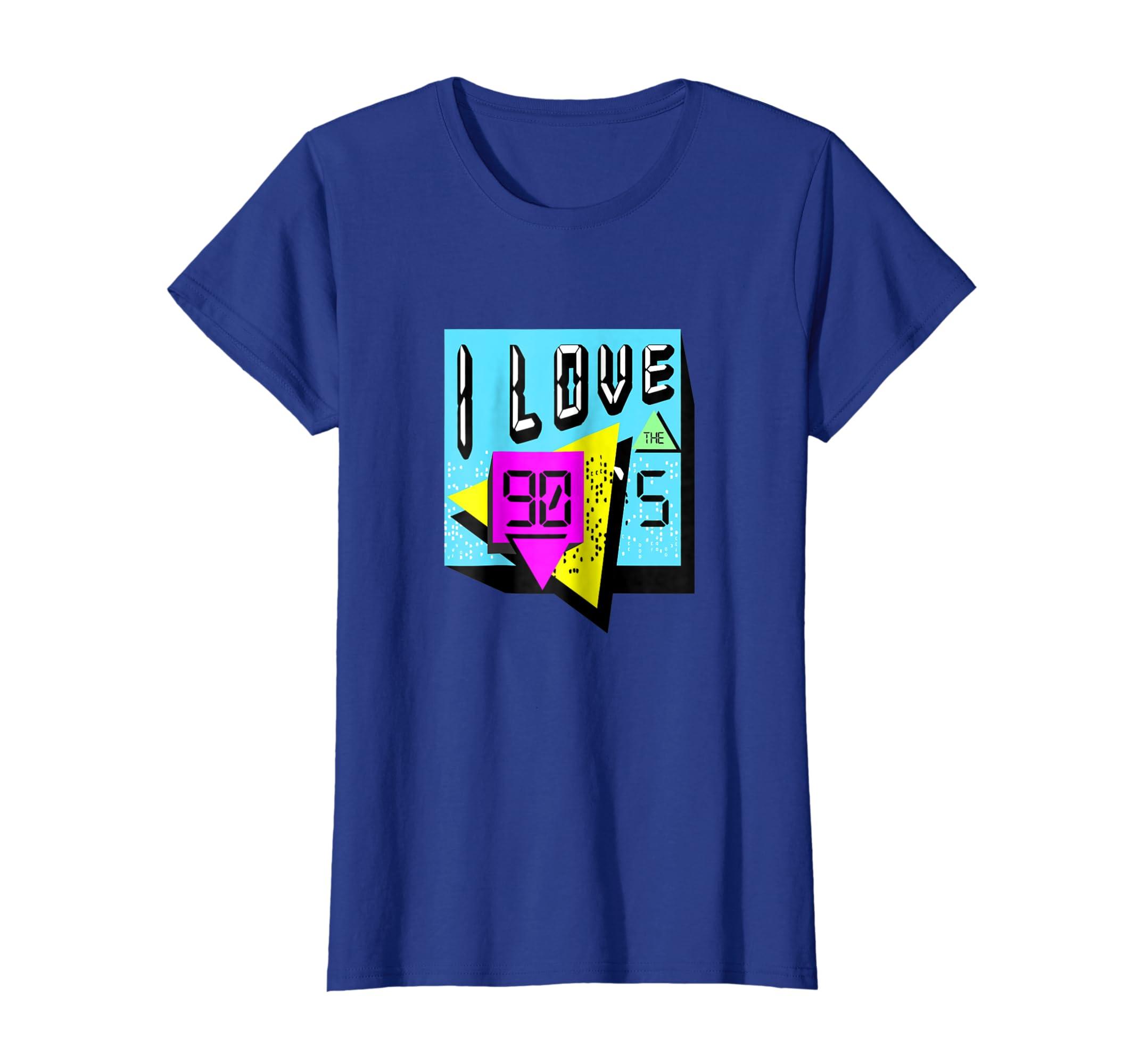 Amazon Com Retro 90s T Shirt I Love The 90s Clothing Clothing