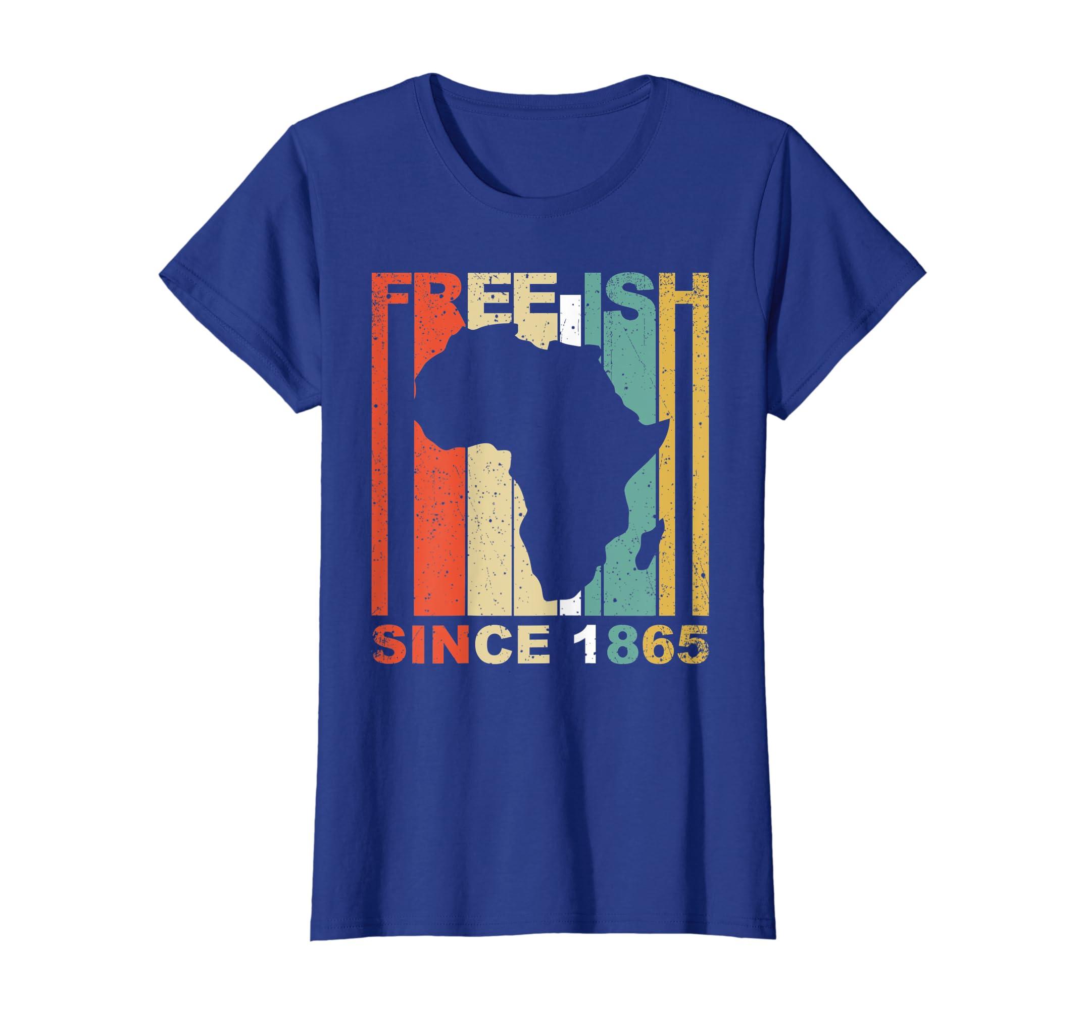 766a9230ad7 Amazon.com: African American Black History Free-ish 1865 T Shirt MM:  Clothing
