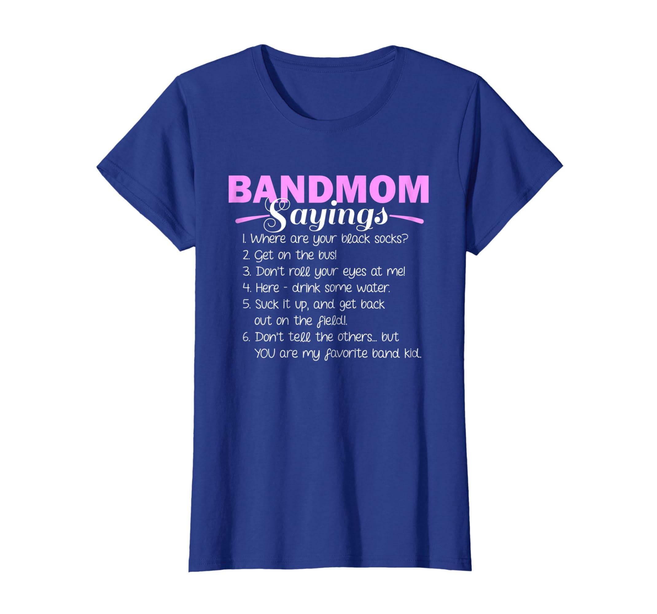 281cb491 Amazon.com: Funny Marching Band T Shirts Music Fan Mom Music School Team:  Clothing