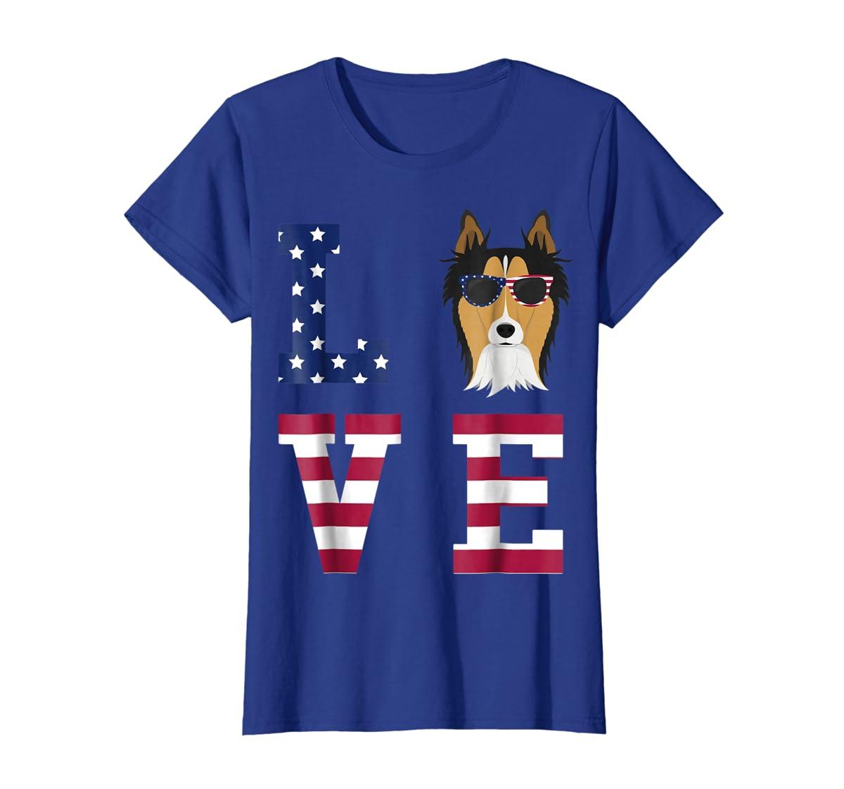 Collie Dog - 4th Of July T-Shirt-Women's T-Shirt-Royal