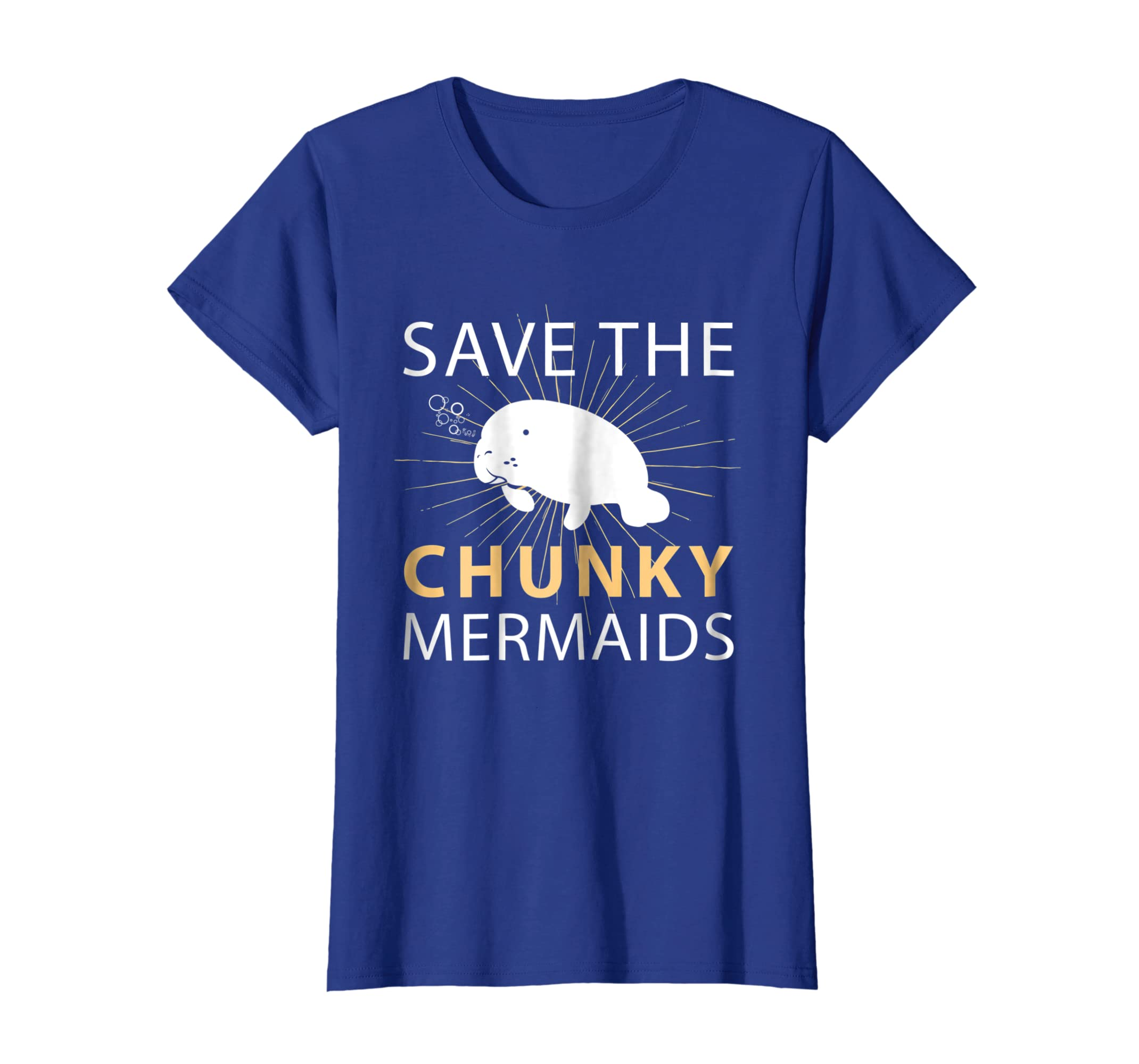 ad7a3dee1 Amazon.com: Manatees Apparel T-Shirt Save The Chunky Mermaids Tee: Clothing