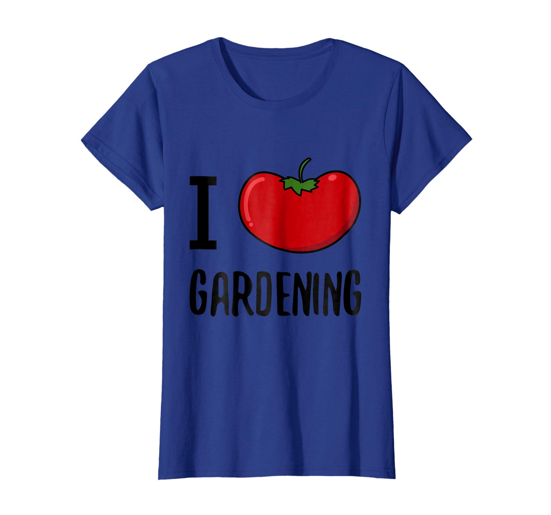d9ad7f3a Amazon.com: Funny I Love Gardening T-Shirt I Tomato Plant Garden Tee:  Clothing