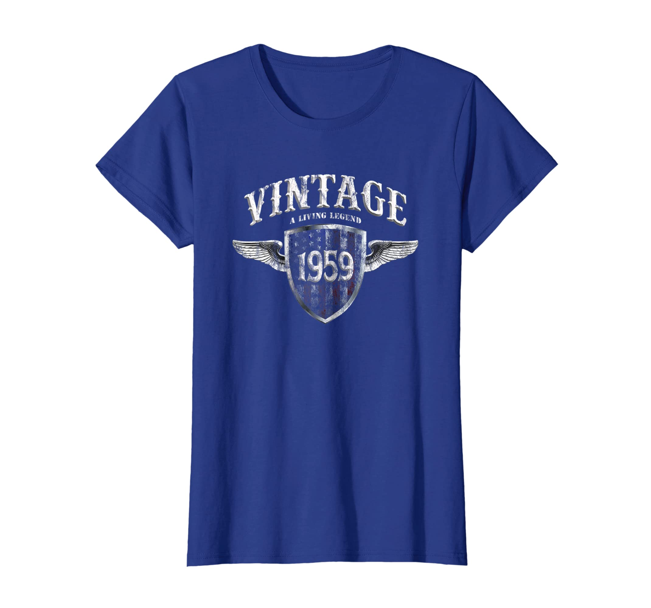 42aa34875 Amazon.com: Vintage 60 Years Old Made In 1959 T-Shirt USA 60th Birthday:  Clothing
