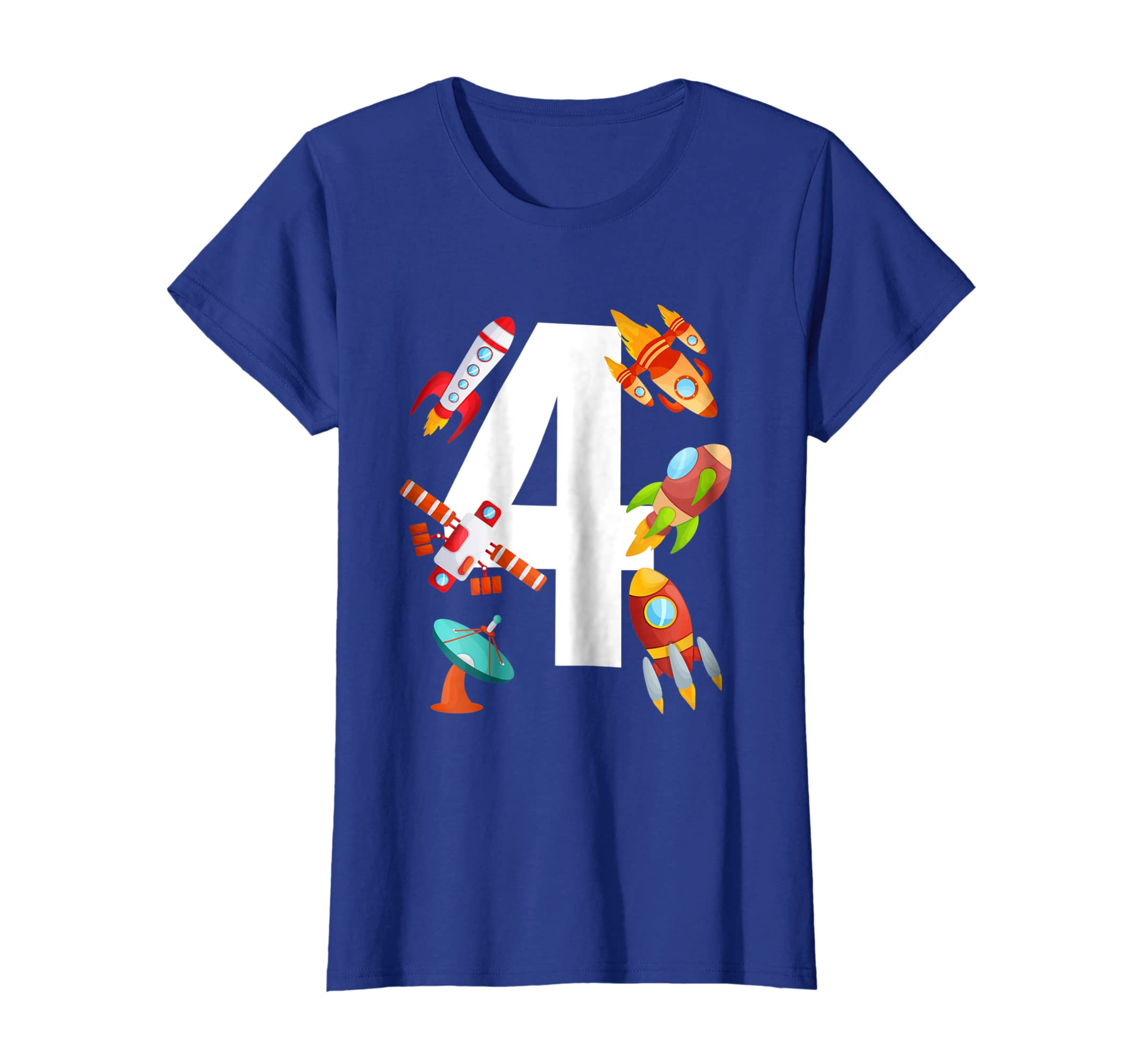 Amazon Kids Space Rockets 4th Birthday Party 4 Year Old Toddler Tee Clothing