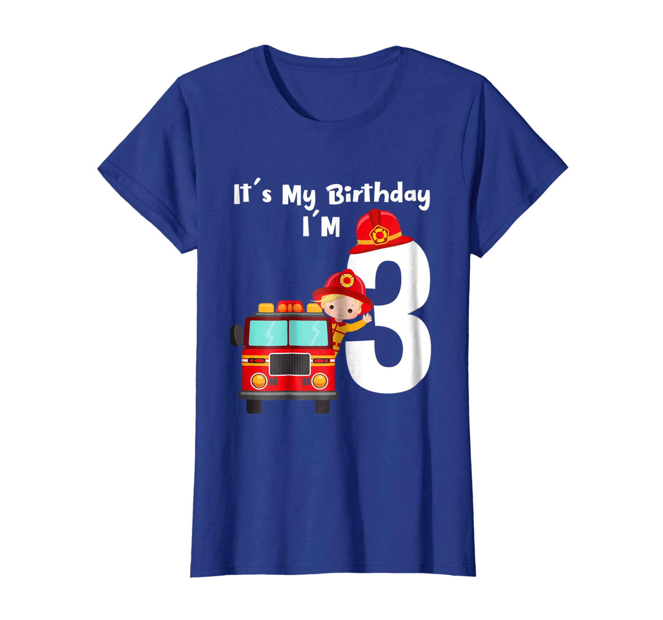 Amazon Its My Birthday 3 Fire Truck Fireman 3rd Boy Shirt Clothing