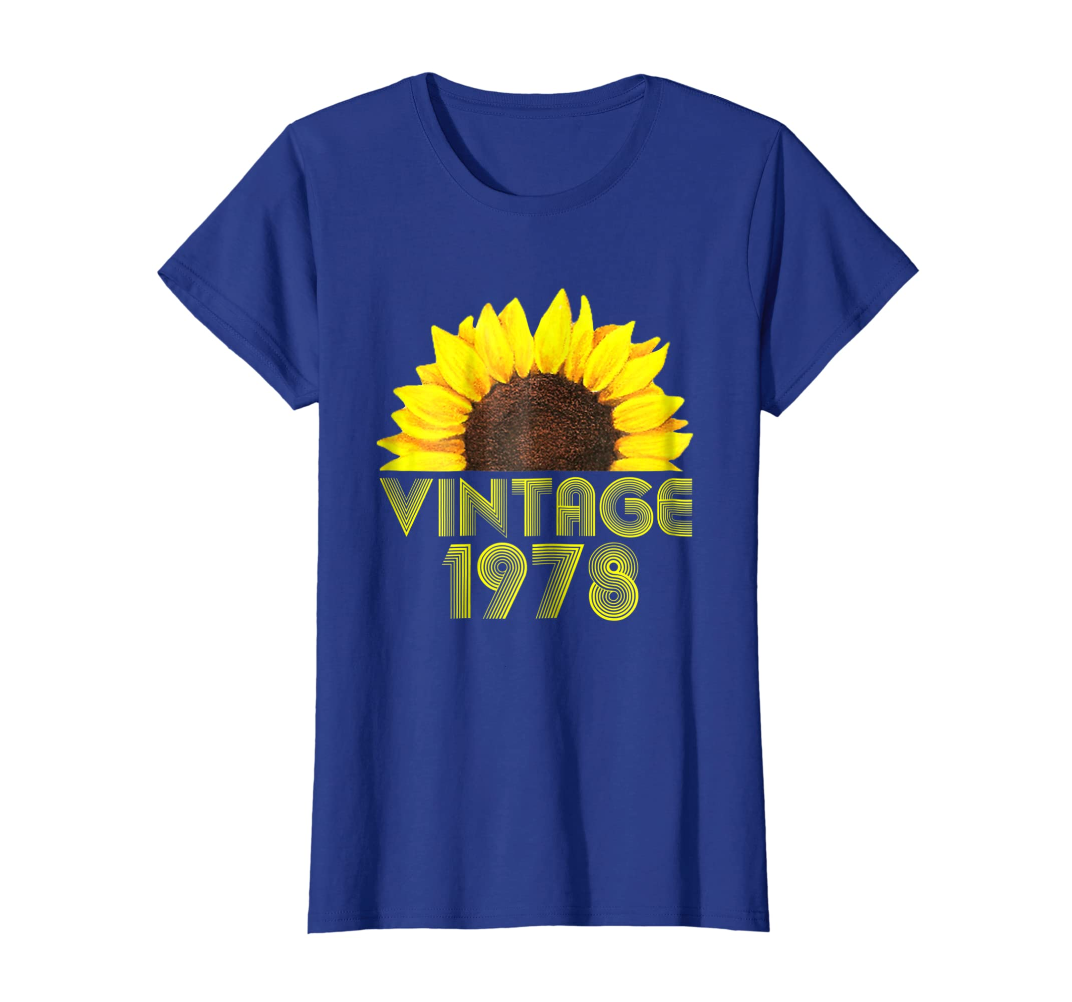 Amazon 40th Birthday Gift Vintage 1978 Year Old Sunflower T Shirt Clothing
