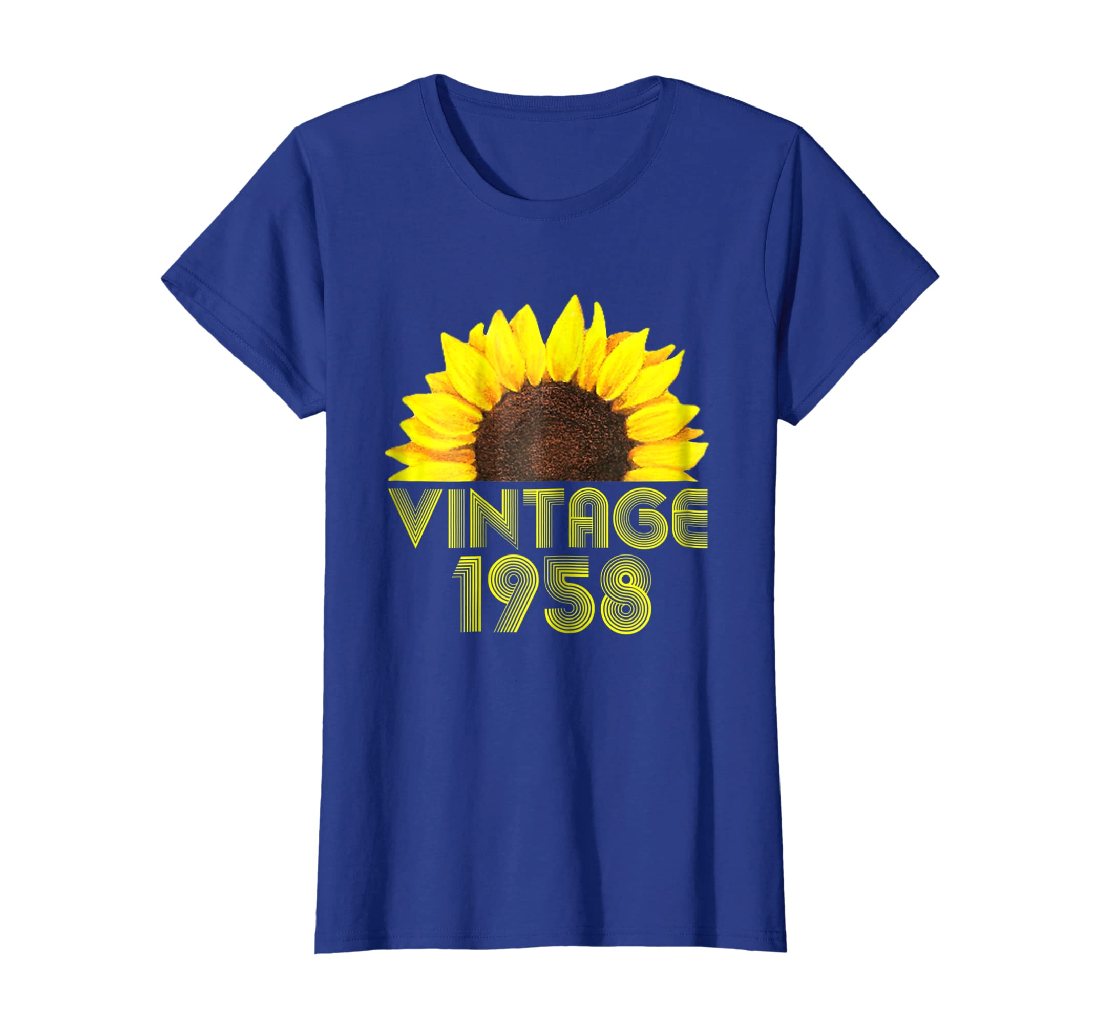 Amazon 60th Birthday Gift Vintage 1958 Year Old Sunflower T Shirt Clothing