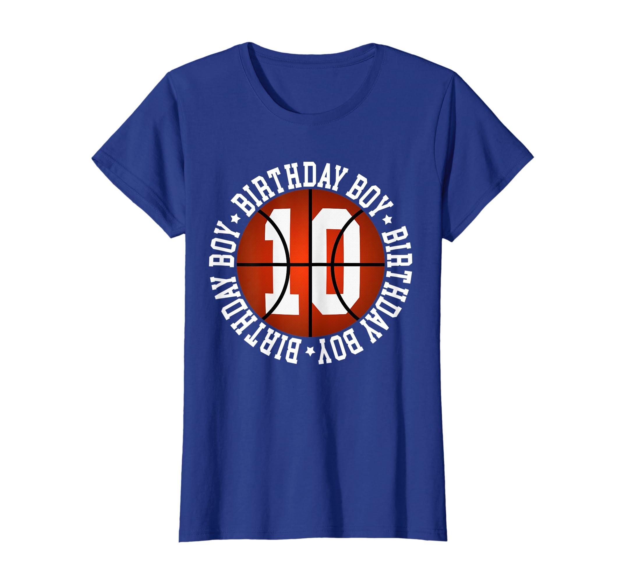 Amazon 10th Birthday Boy Basketball T Shirt 10 Year Old Baller Clothing