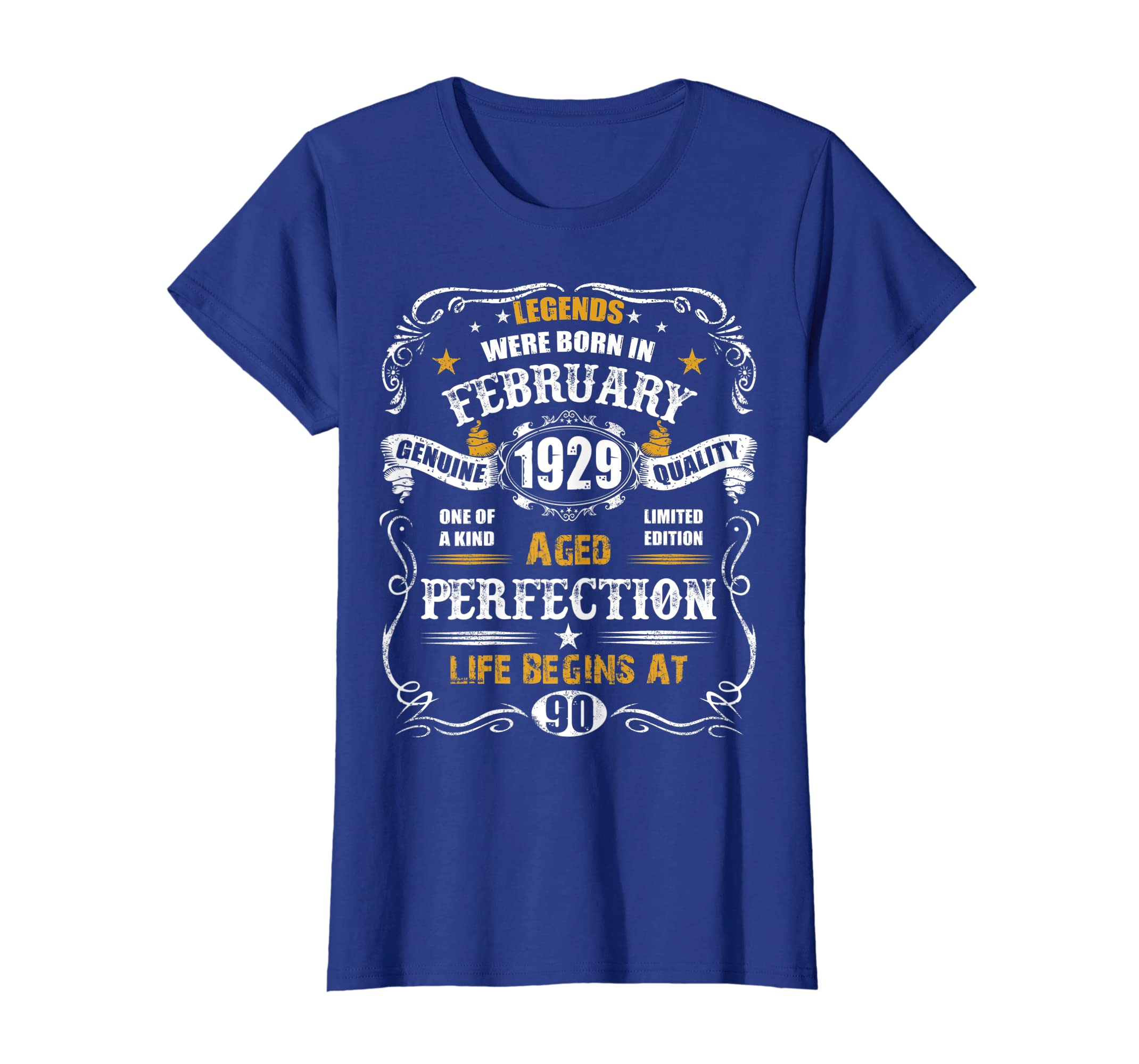 Amazon February 1929 90th Birthday T Shirt Vintage 90 Years Old Tee Clothing
