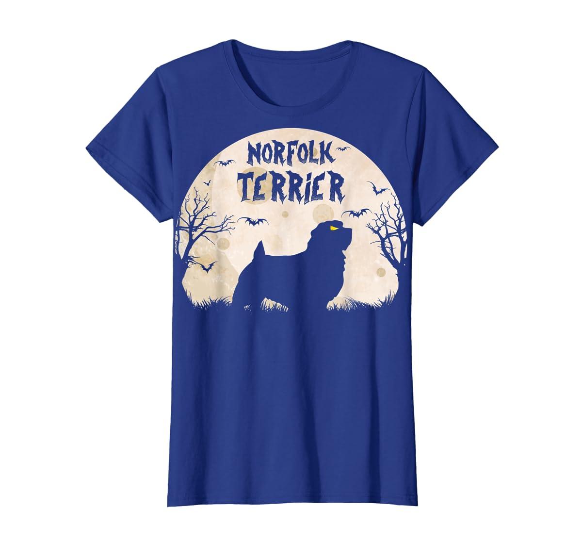 Halloween Horror Norfolk Terrier  T-Shirt-Women's T-Shirt-Royal