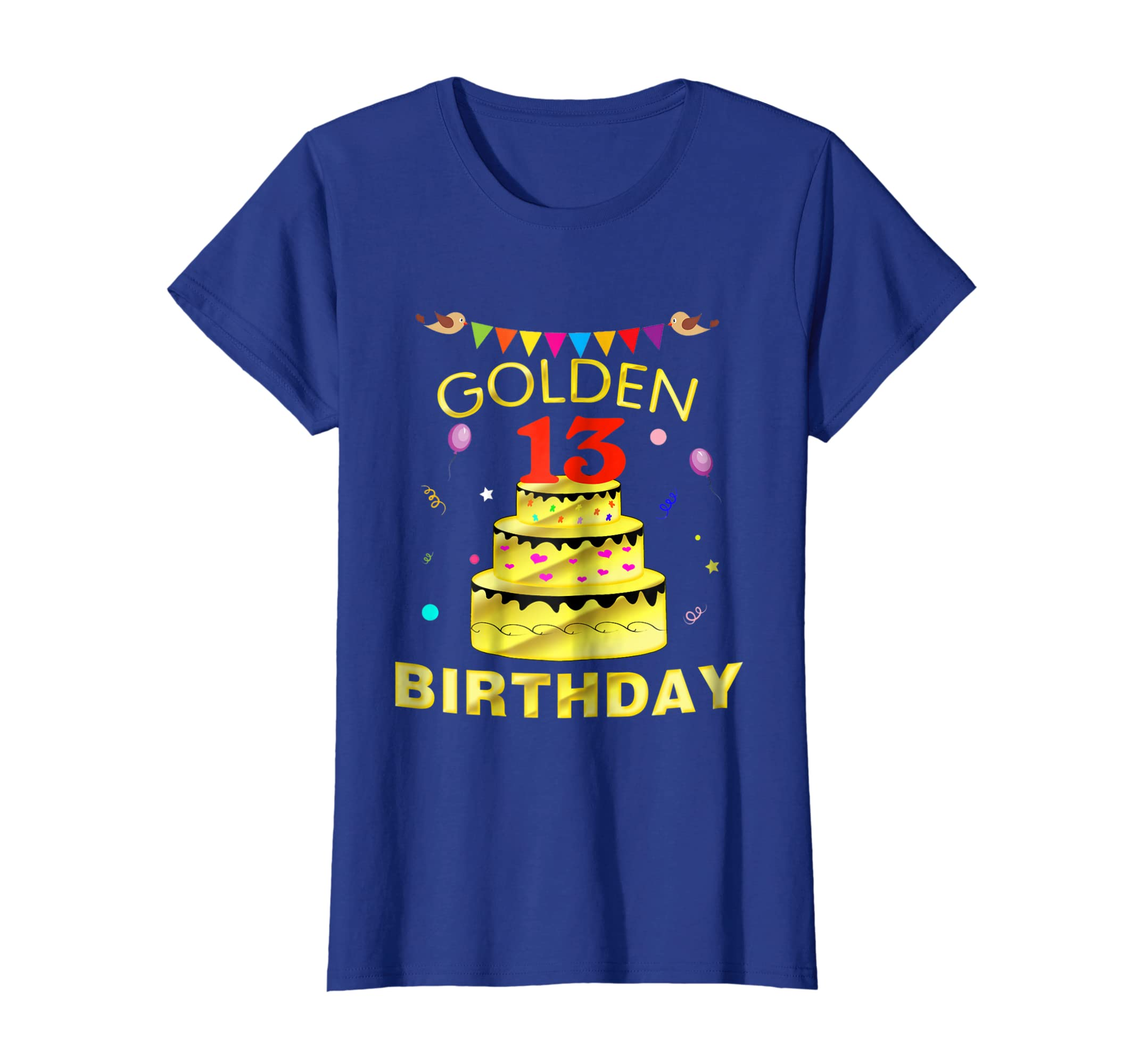 Amazon 13 Years Old 13th Golden Birthday Decorations Gift Shirt Clothing