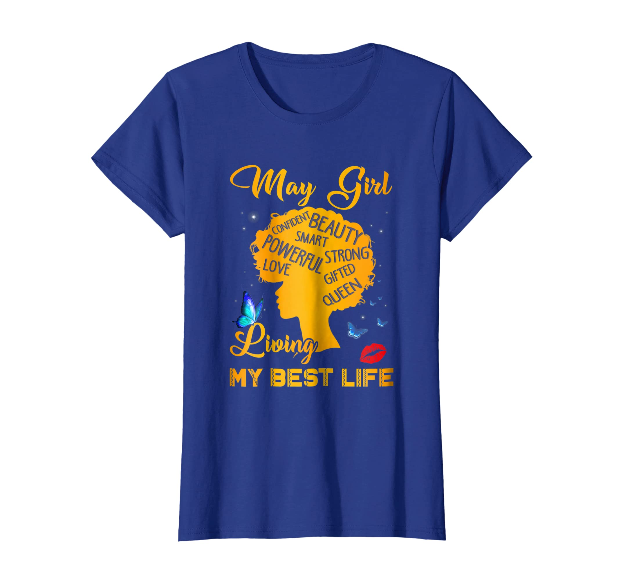 966a6d1e Amazon.com: May girl living my best life: Clothing