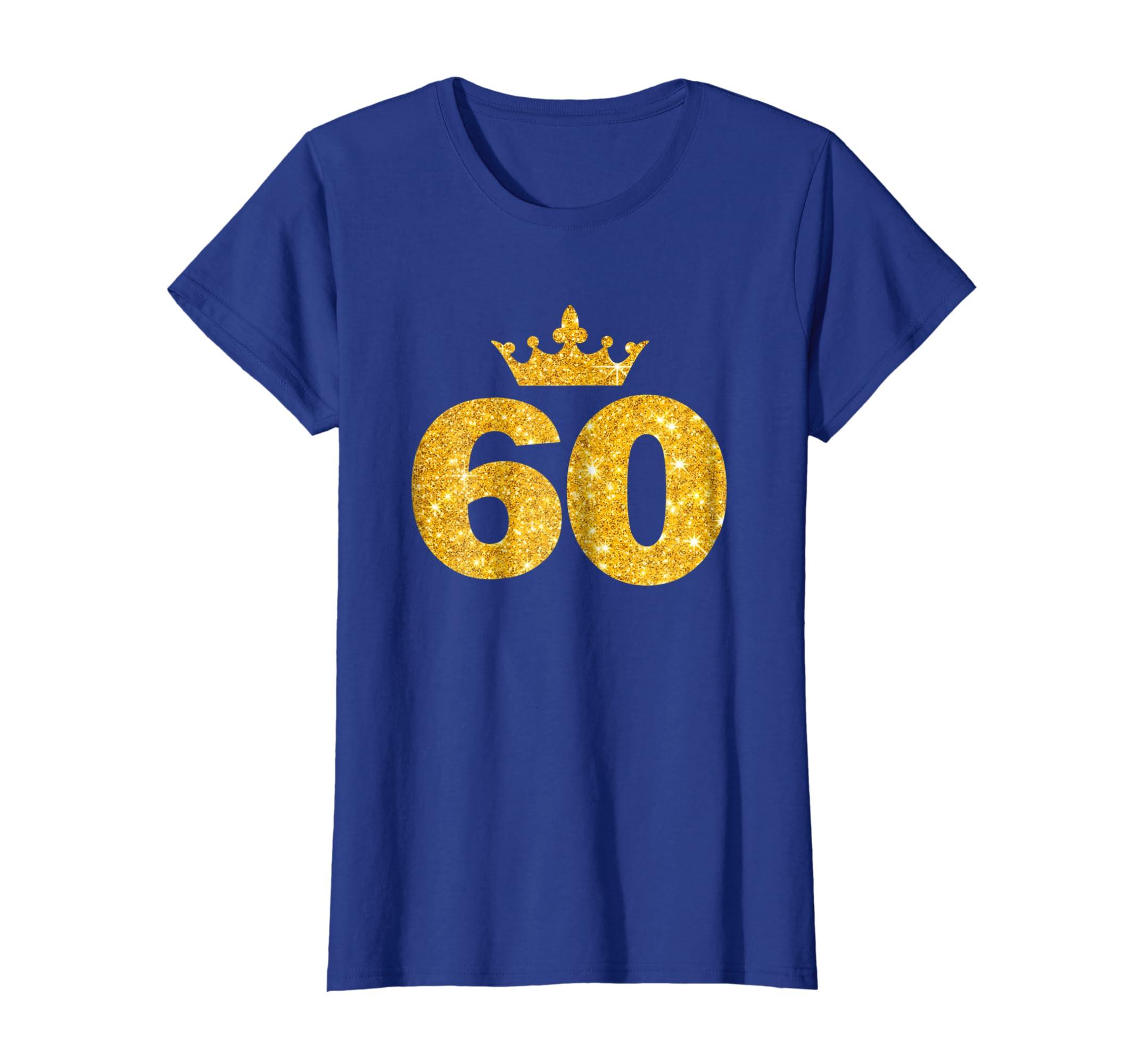 Amazon 60th Birthday T Shirt Custom Crown Happy Tee Clothing