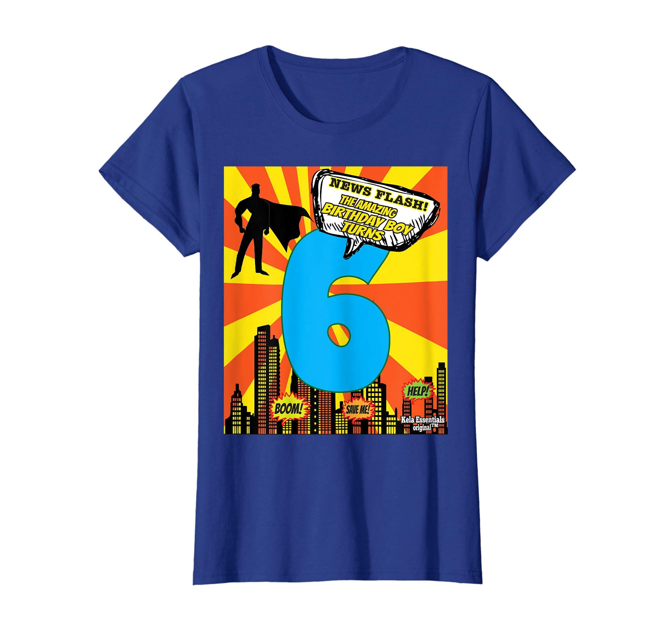 Amazon Superhero Birthday Shirts For Boys Size 6 Six Party Theme Clothing