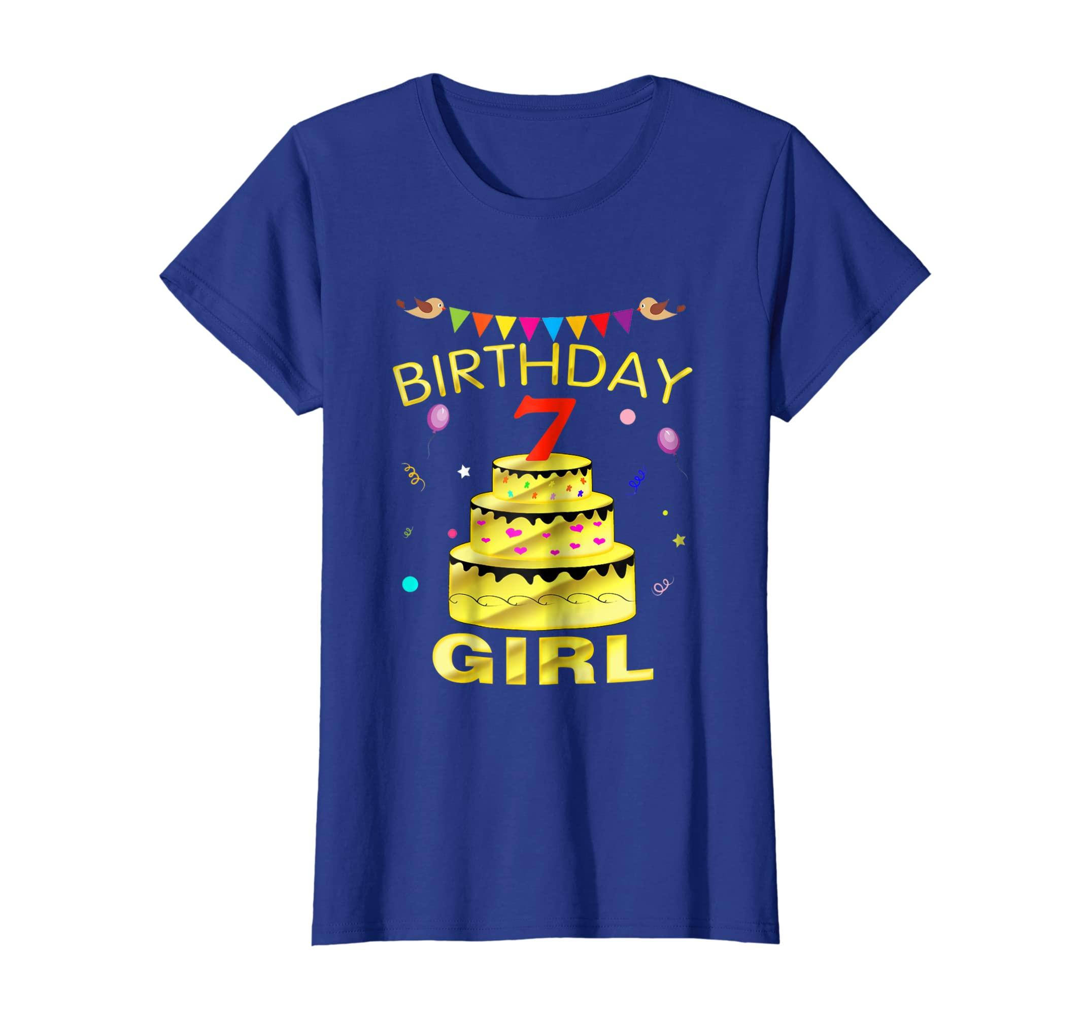 Amazon 7 Years Old 7th Golden Birthday Girl Decorations Shirt Clothing