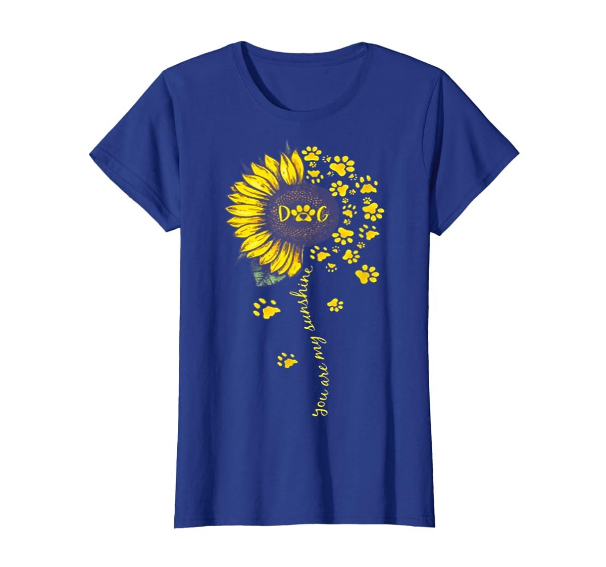You Are My Sunshine Dog Tshirt-Women's T-Shirt-Royal